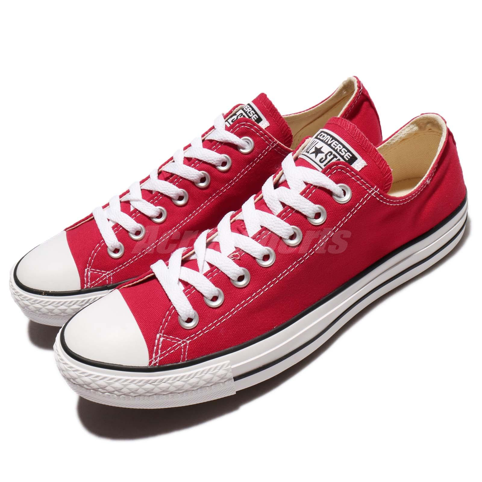 Converse All Star OX Chuck Taylor Red White Men Canvas
