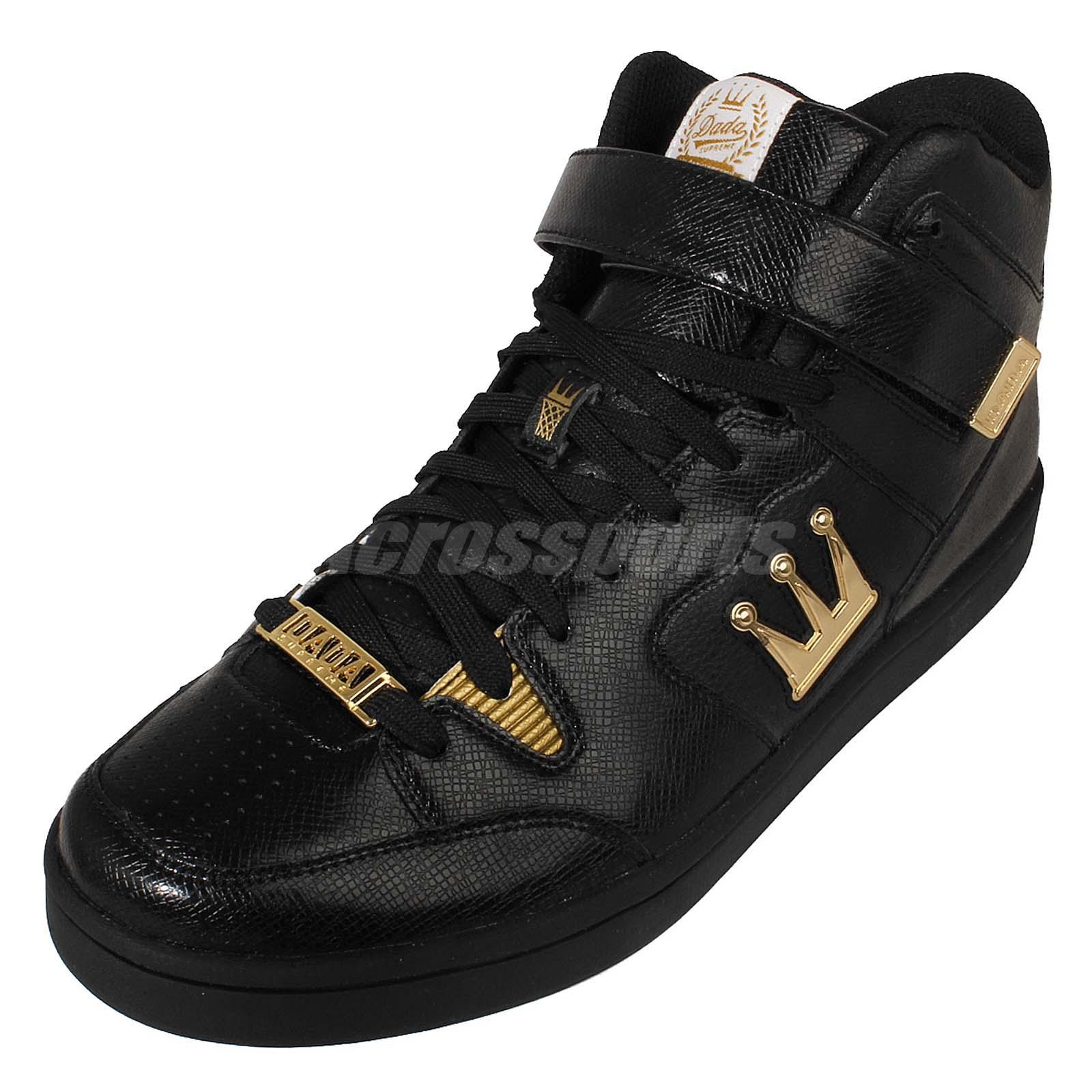 3a203c84dd1 dada supreme shot caller hi black gold logo leather crown mens shoes  sneakers outlet for sale 16ae7 68dc5 - koora-cool.com
