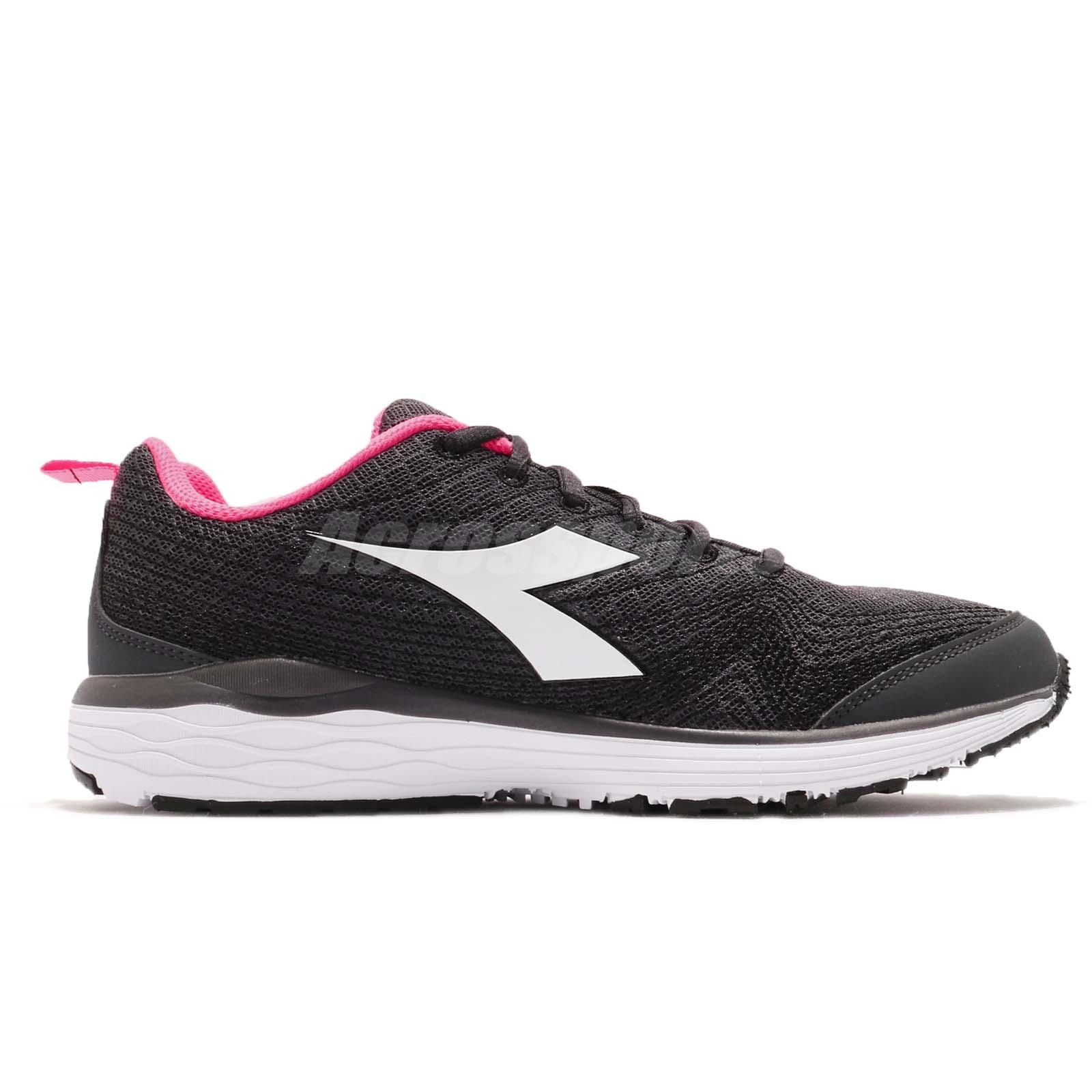 d08caf311c Details about Diadora Flamingo W Black White Pink Women Running Shoes  Sneakers DA172868-C0641