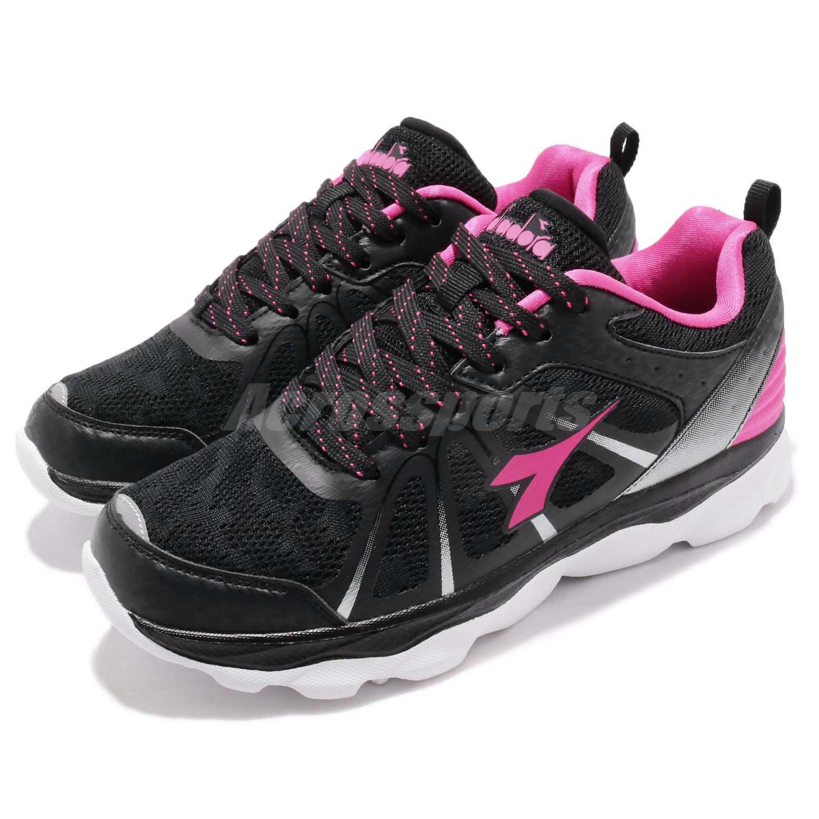 bc070d5a Details about Diadora DA8AWJ6672 Black Pink White Women Running Walking  Casual Shoes Sneakers