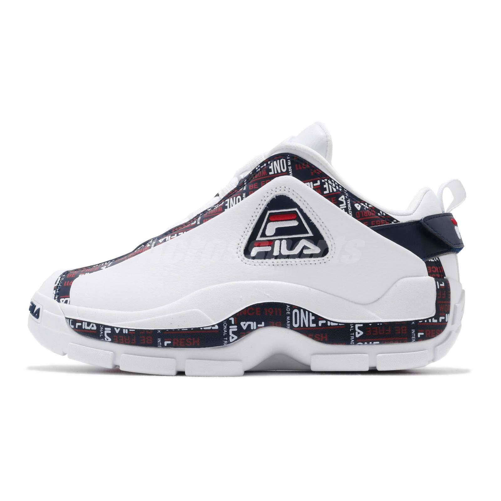Details about Fila 96 Low Trademark Grant Hill White Navy Red Men Basketball Shoes Sneakers