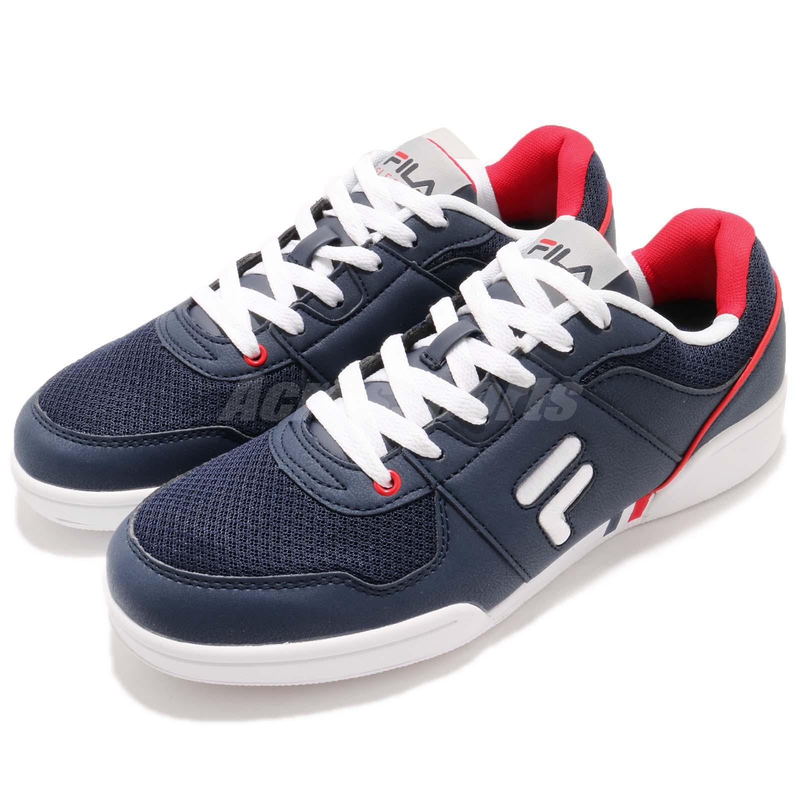 fd4338195f63 Details about Fila C301S Navy White Red Men Lifestyle Casual Shoes Sneakers