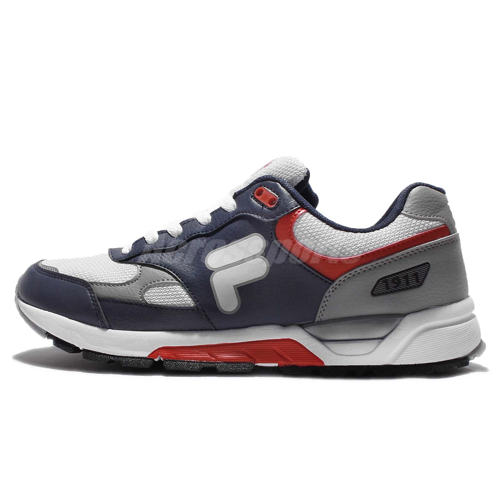 najlepszy design popularne sklepy szeroki wybór Details about Fila J313Q Grey Blue Red Mens 1911 Cushion Running Shoes  Sneakers 1-J313Q-431