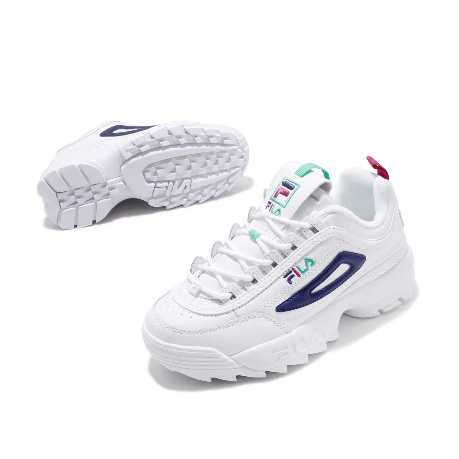 hot-selling discount buy best deals on Details about Fila Disruptor II Premium White Blue Green Pink Women Chunky  Platform Shoes