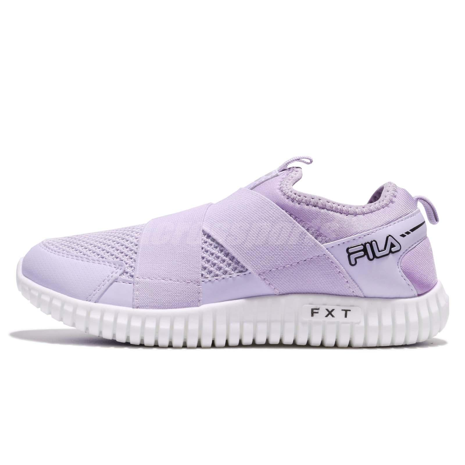 10f0b99f7b58 Fila F909R Venus Strap Purple White Women Slip On Walking Shoes Sneakers