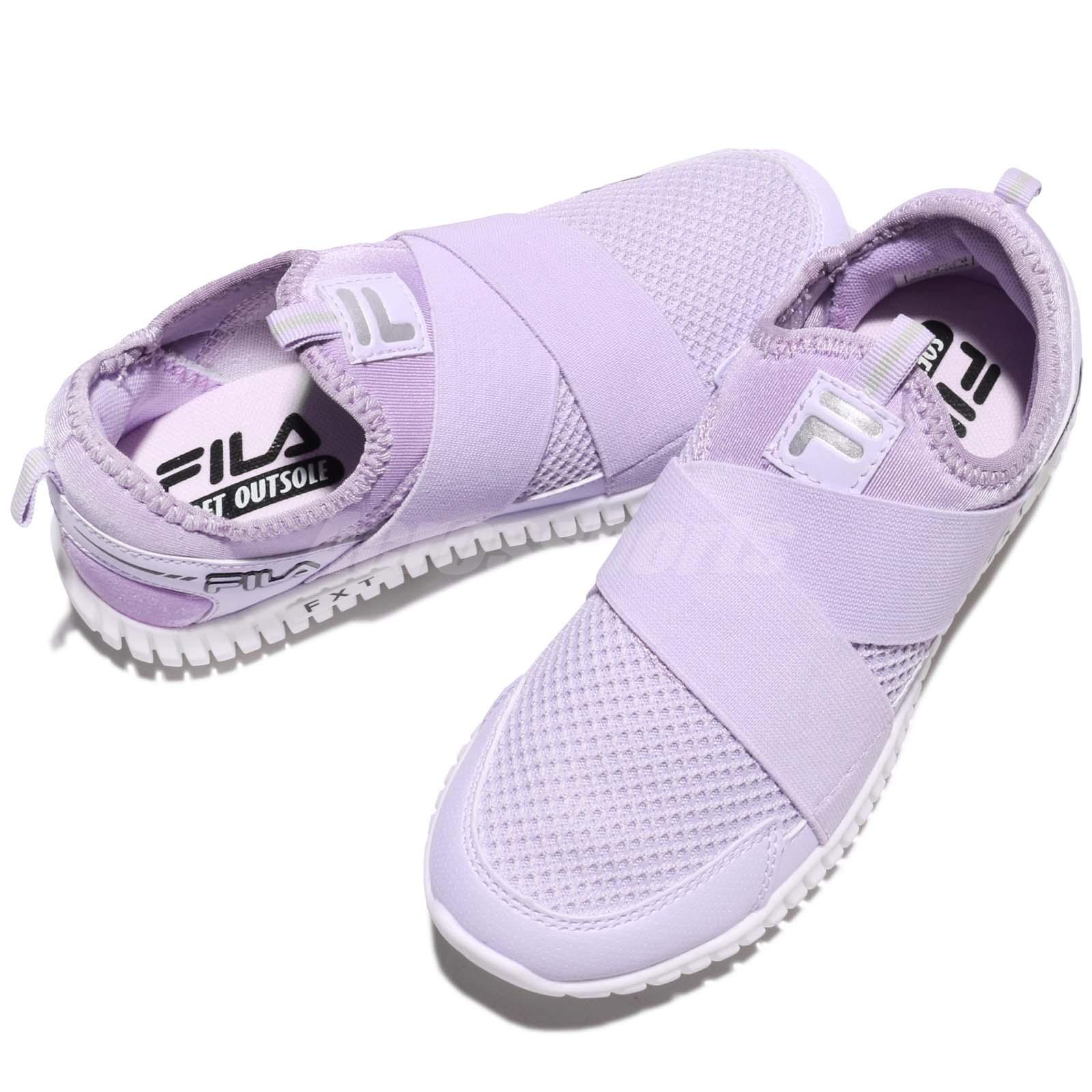87951baf7272 Fila F909R Venus Strap Purple White Women Slip On Walking Shoes ...