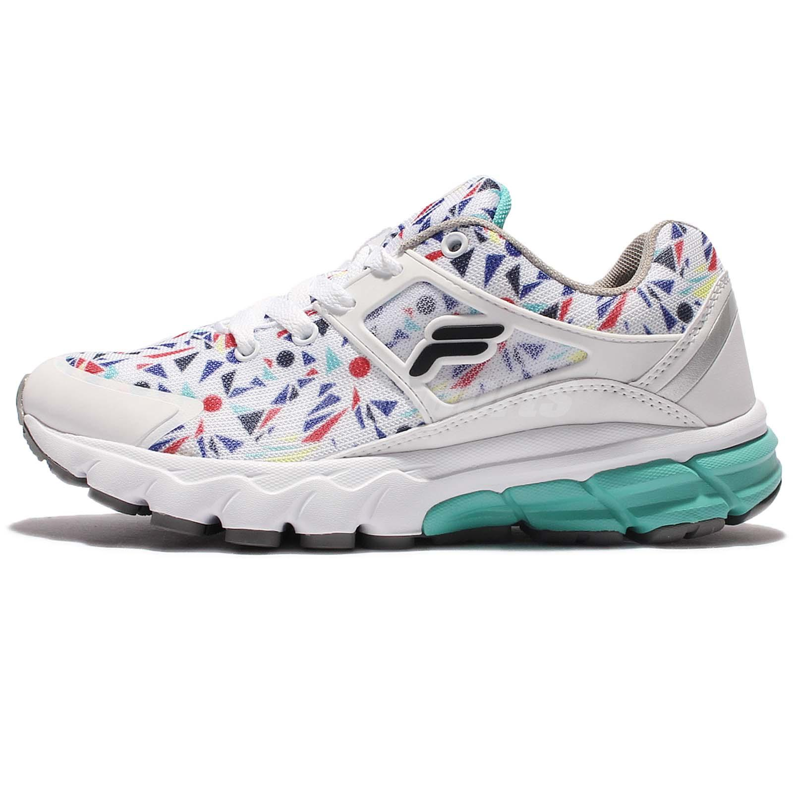 1db83494cd1 Details about FILA J314R White Green Multi-Color Women Running Shoes  Sneakers 5-J314R-130