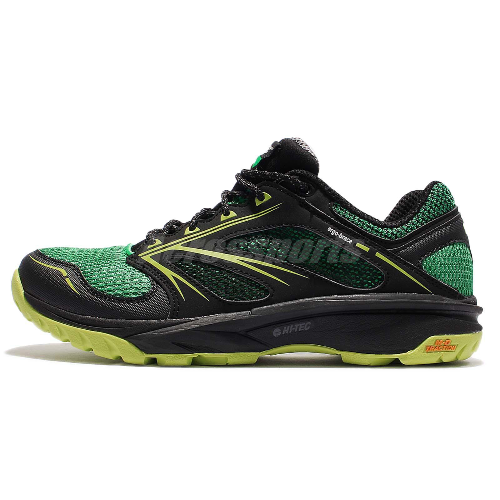 Hi-Tec Speed-Life Breathe Ultra Black Green Men Outdoors Sneaker Adventure  Shoes 050fa19cb69c2