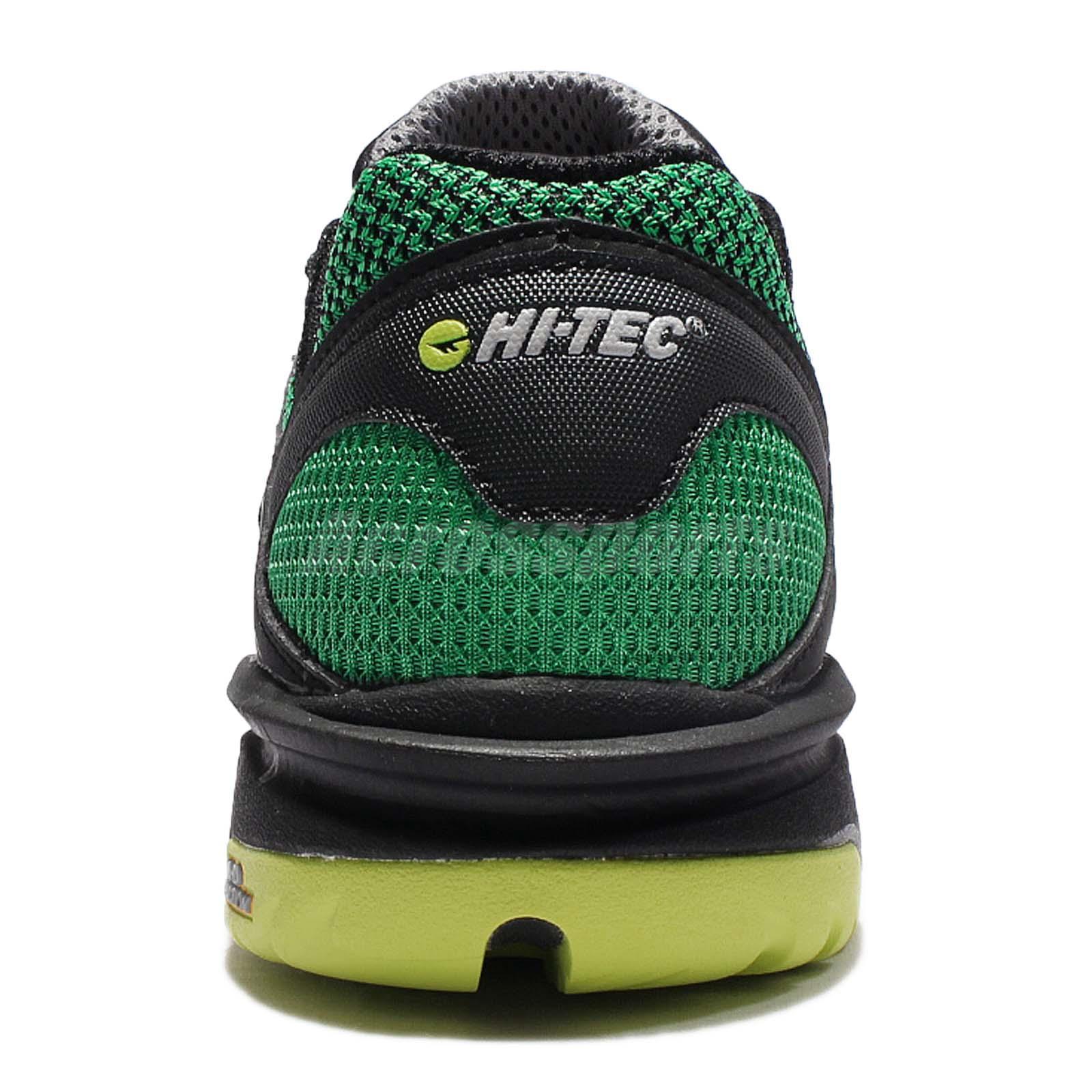 Hi-Tec velocidad-Life respirar Ultra Negro Verde Hombres Zapatillas ... a9cdb605f7b26