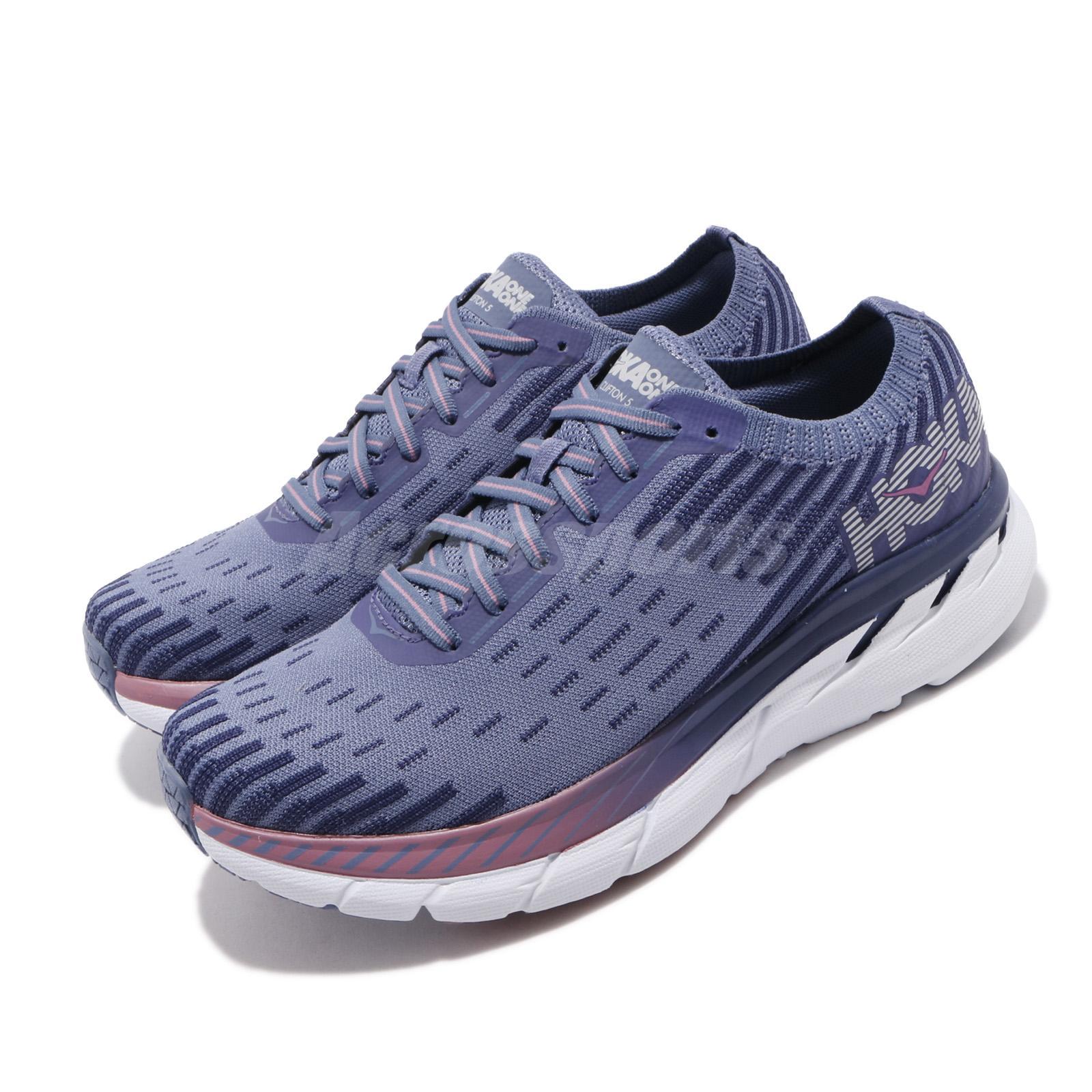 Hoka One One W Clifton 5 Knit Marlin Blue Ribbon Women Running Shoe 1094310-MBRB