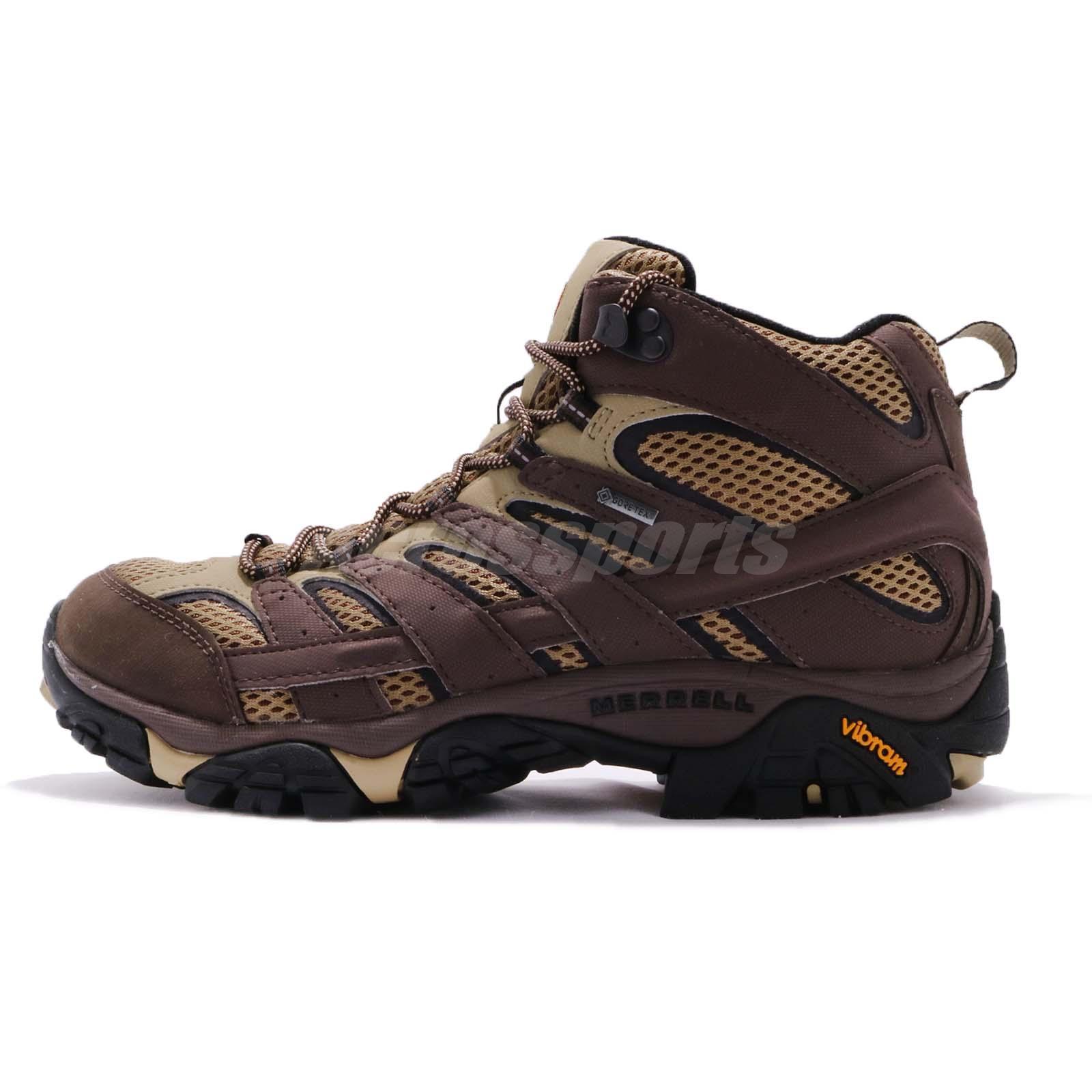 137fd44170 Merrell Moab 2 Mid GTX Gore-Tex Vibram Brown Men Outdoors Trail Shoes J12117