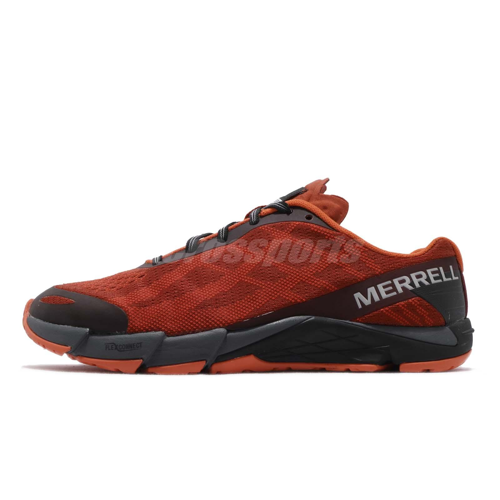 size 40 1b318 310be Details about Merrell Bare Access Flex E-Mesh Spicy Orange Mens Barefoot  Running Shoes J12549