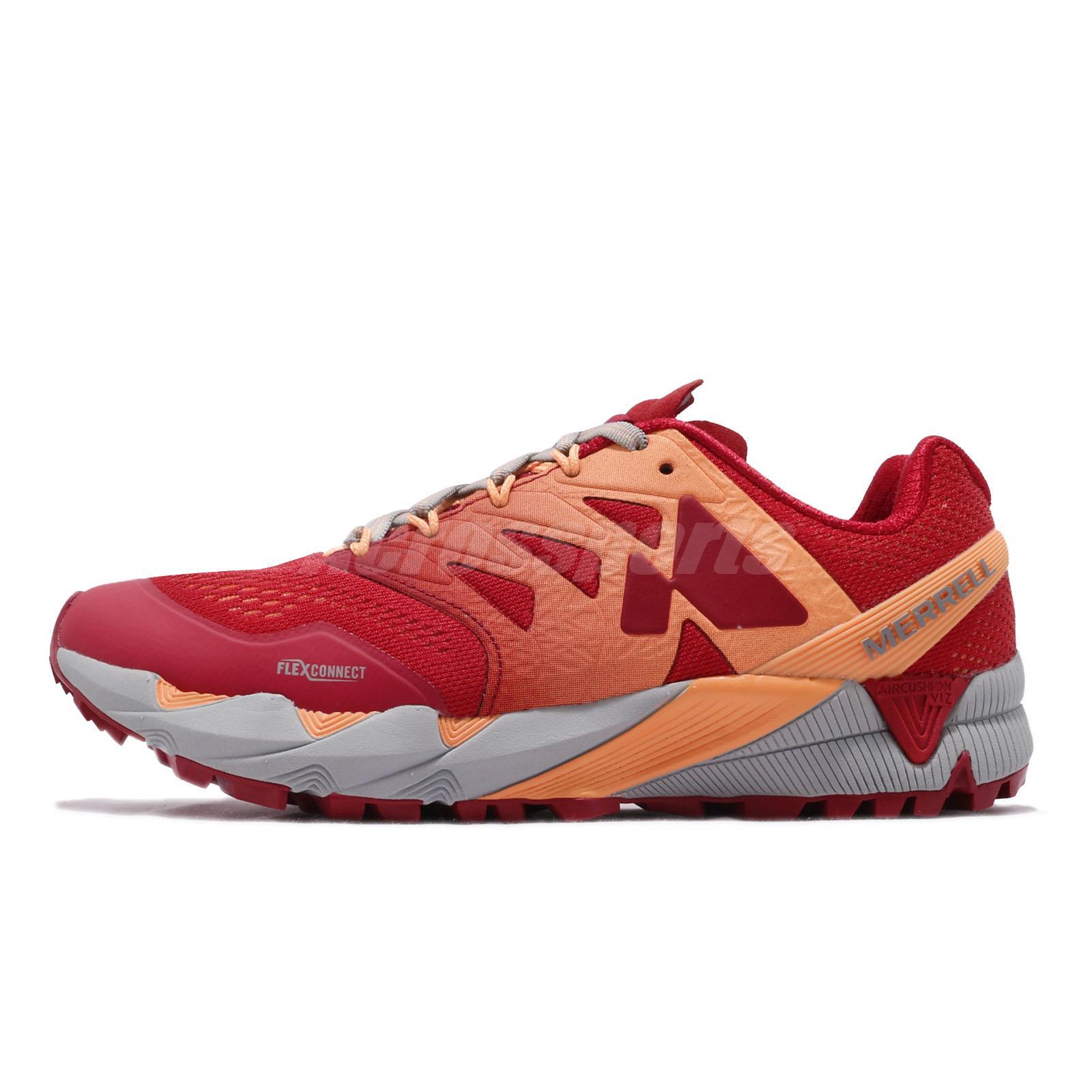 fe72f71ab246f Details about Merrell Agility Peak Flex 2 E-Mesh Pepper Red Womens Trail  Running Shoes ML12556