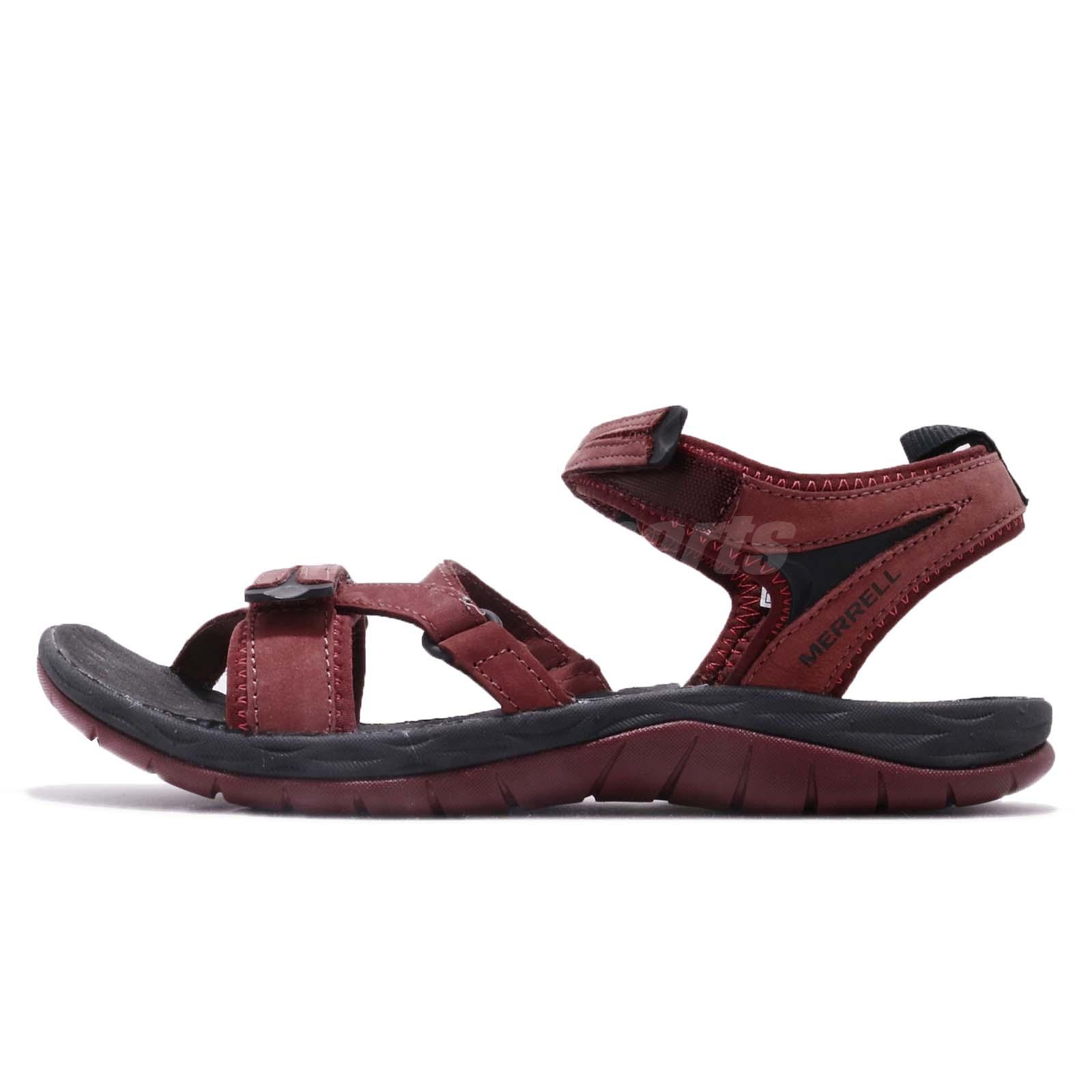 a972327ca4fc Details about Merrell Siren Strap Q2 Chocolate Truffle Black Women Sports  Sandals Shoes J12714