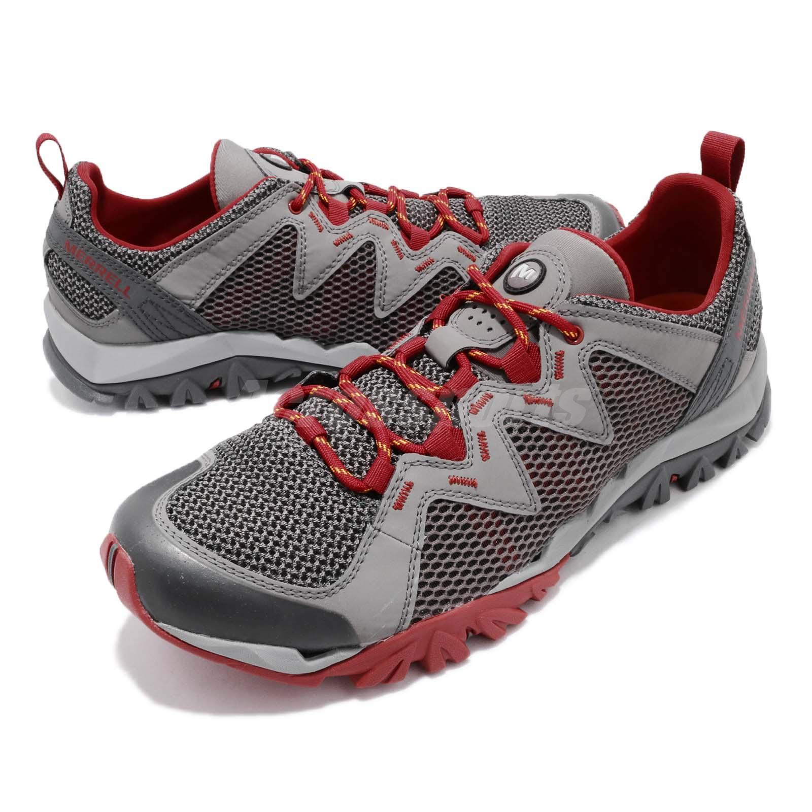 ff4ec6751e62 Details about Merrell Tetrex Rapid Crest Grey Red Men Outdoors Hiking Water  Shoes J12855
