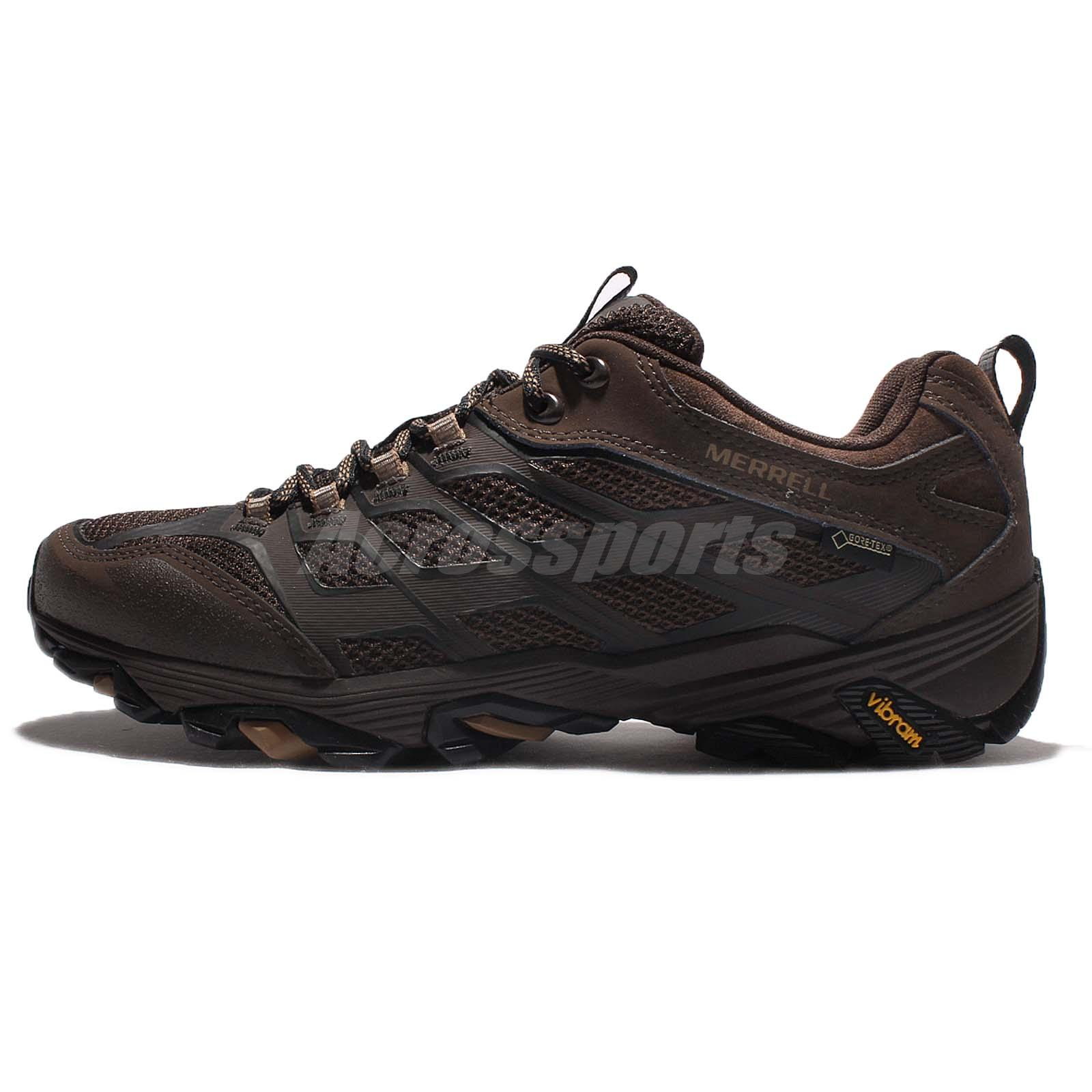 a07b94fcde Merrell Moab FST Gore-Tex Brown Black Vibram Men Outdoors Hiking Shoes  ML36983