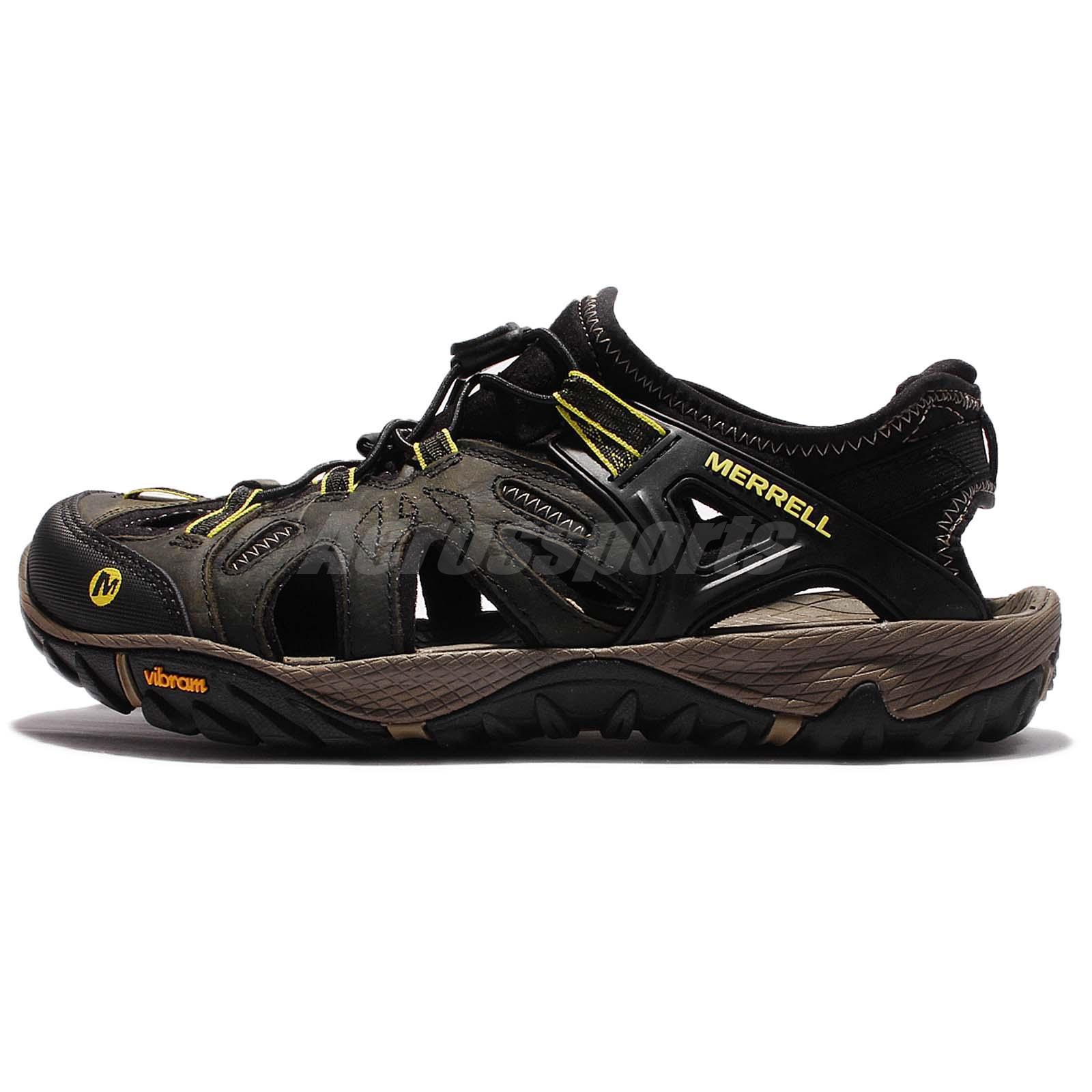 Merrell All Out Blaze Sieve Olive Black Vibram Men Outdoor Sandal Hiking  ML37691
