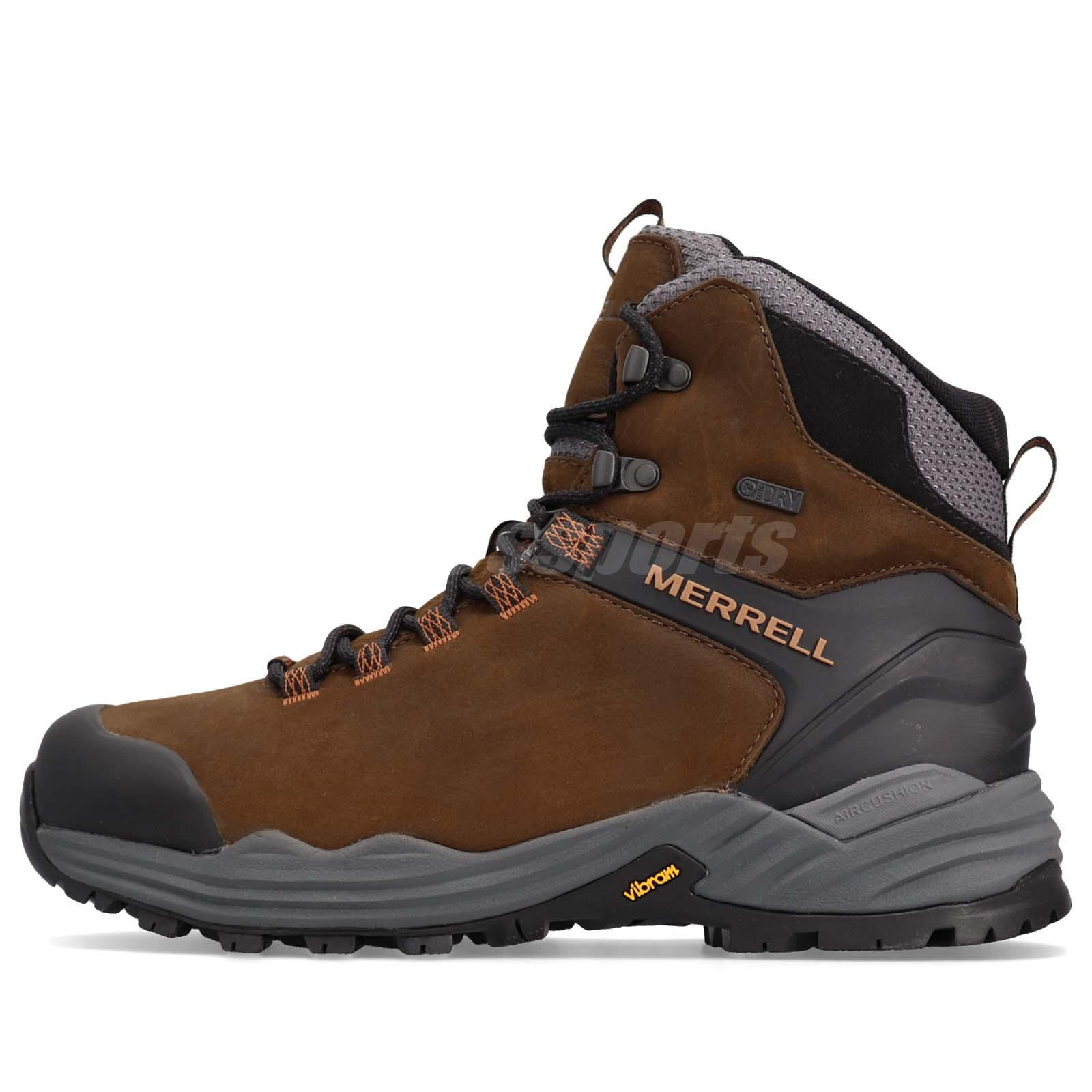 ffc5e7df38b Details about Merrell Phaserbound 2 Brown Grey Black Men Outdoors Hiking  Shoes Boots J48571