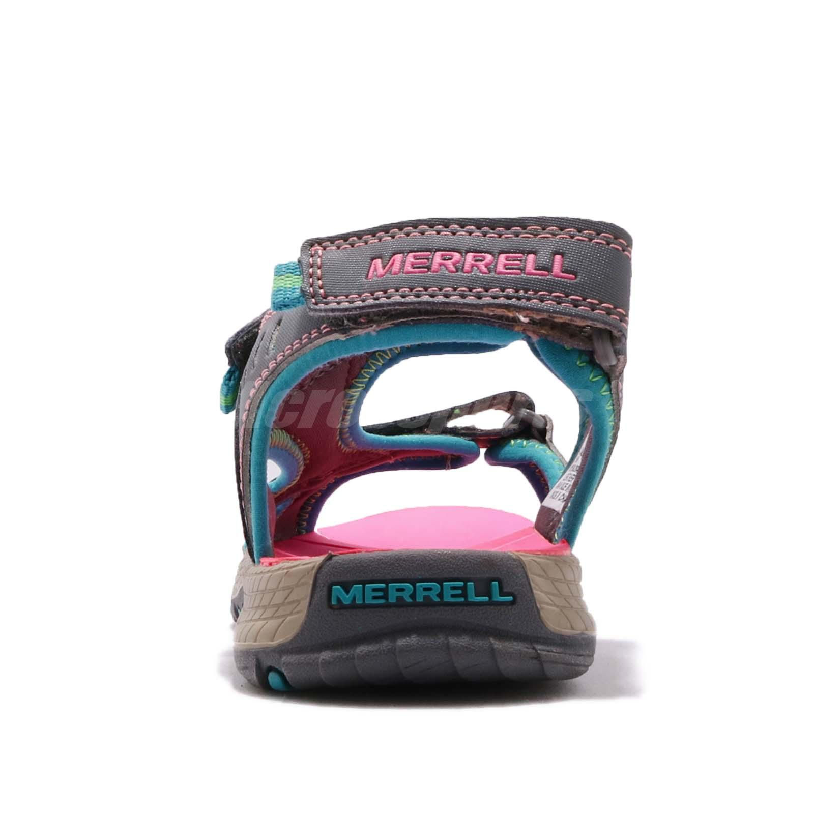 3a0bbdb28b98 Merrell Panther Grey Turq Pink Kid Youth Sports Sandals Water Shoes ...