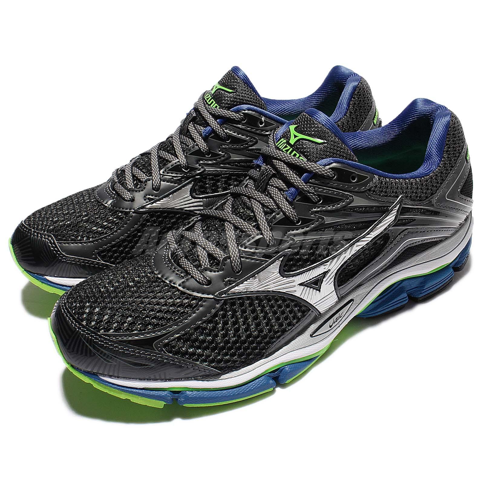 buy online 9c098 d2dee Details about Mizuno Wave Enigma 6 Grey Silver Blue Men Running Shoes  Sneakers J1GC1611-04