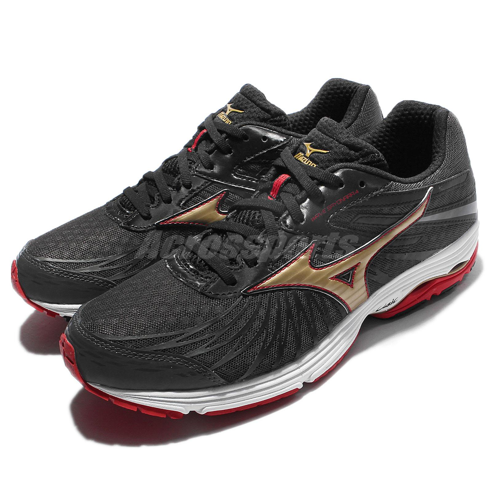 256b8406bf2d Details about Mizuno Wave Sayonara 4 Black Red Men Running Shoes Sneakers  Trainers J1GC16-3050