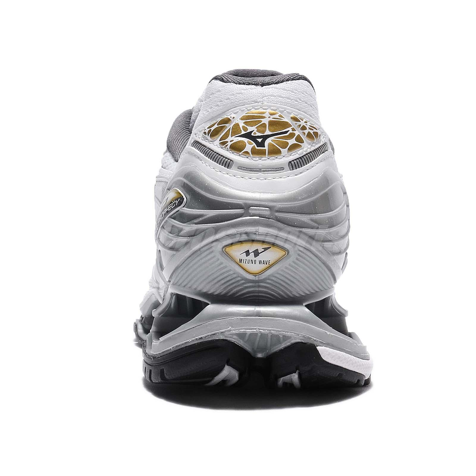 size 40 6b513 f9a69 ... switzerland condition brand new with box mizuno wave prophecy 6 mens white  silver gold classic 3d ...