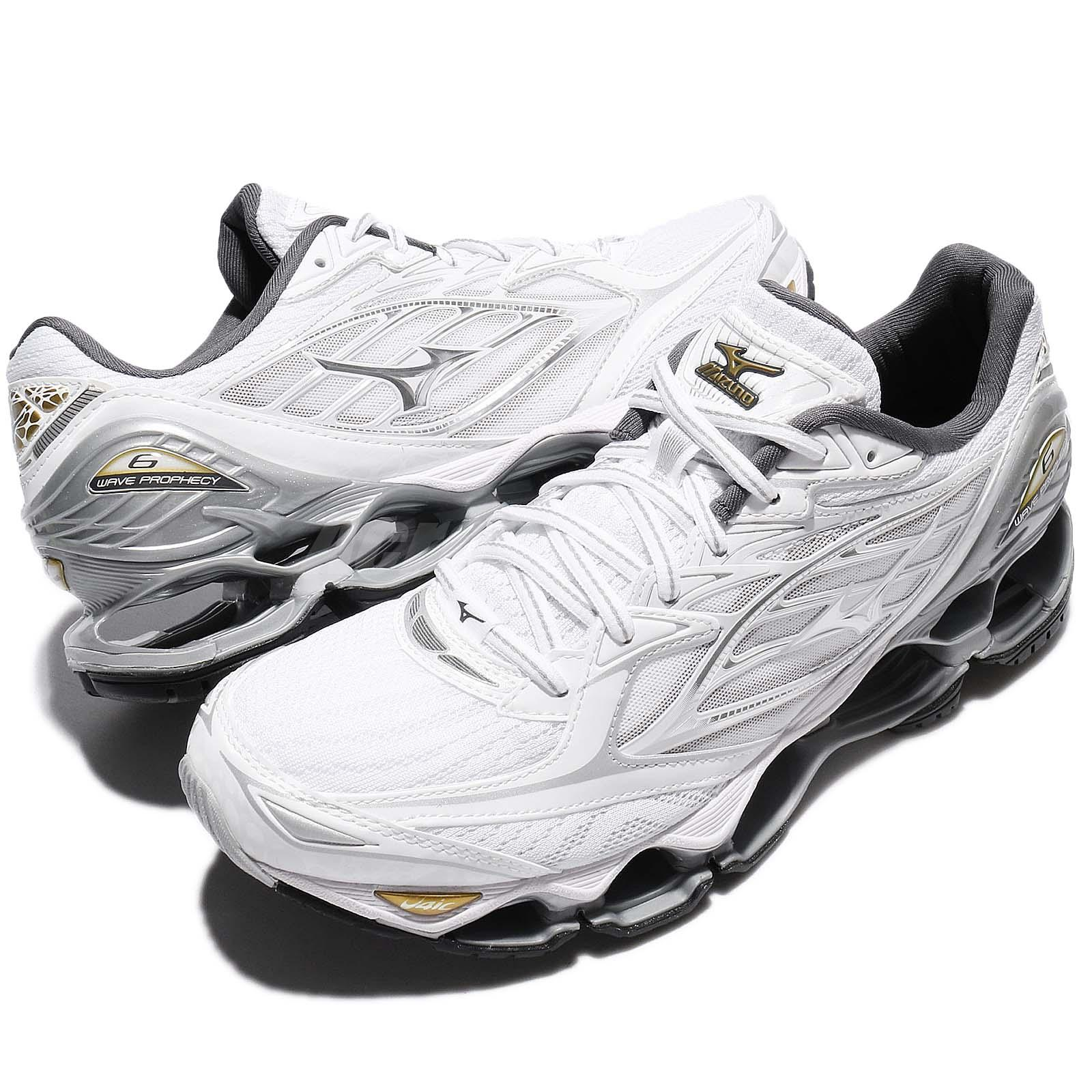 cheap for discount 5d315 5c0eb ... Mizuno Wave Prophecy 6 White Silver Gold Men Running Shoes .