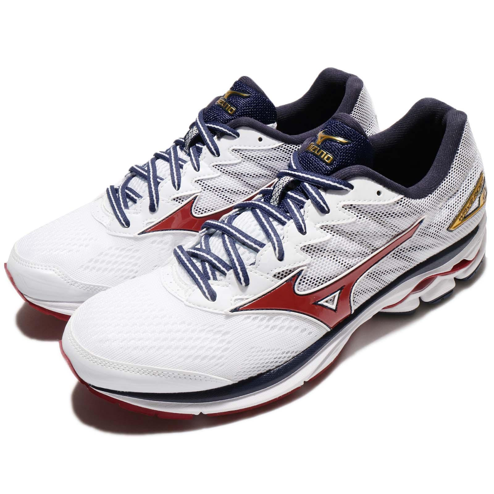 f13bed7a646c Details about Mizuno Wave Rider 20 White Blue Red Men Running Shoes  Trainers J1GC17-0361