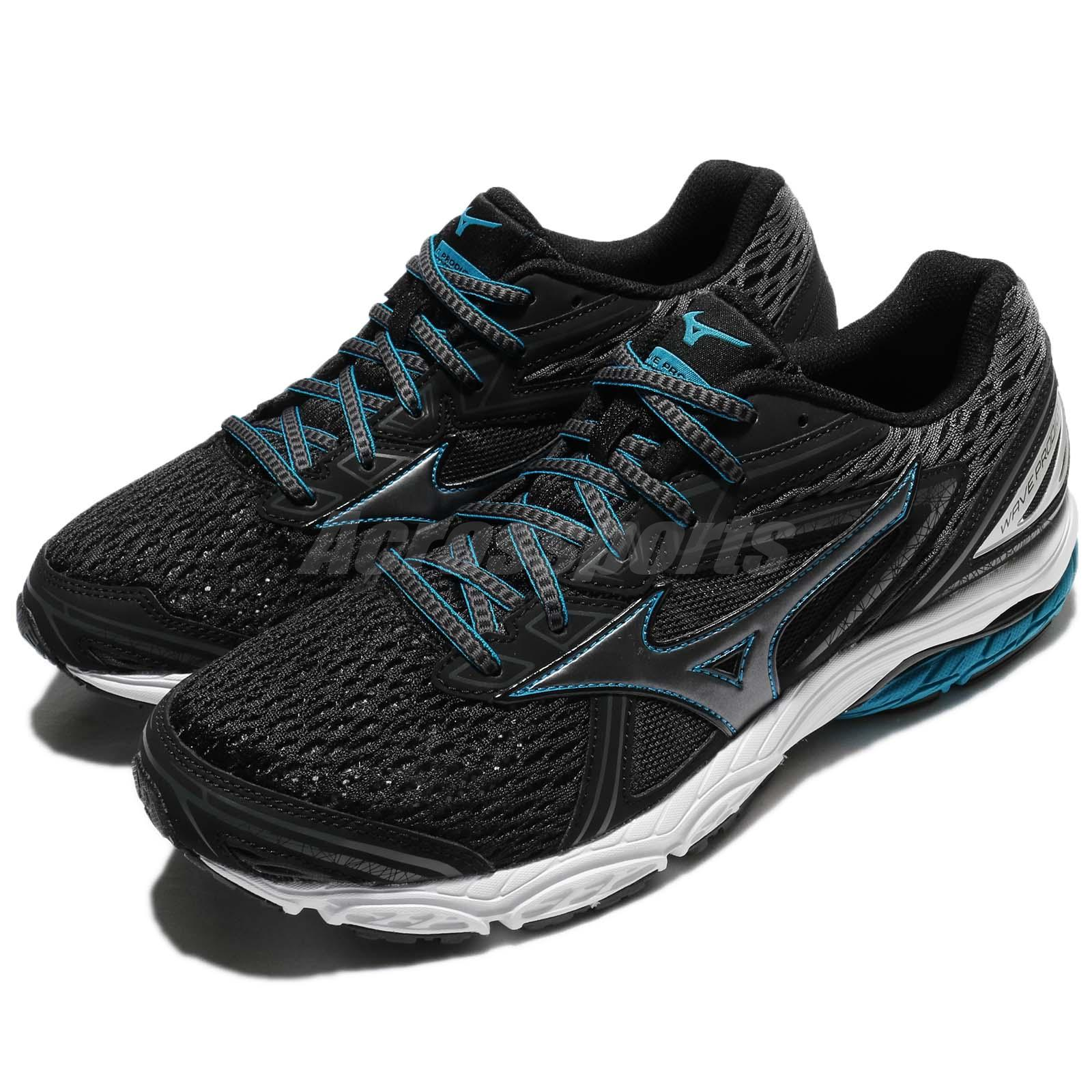 14f99f4c1cc0 Details about Mizuno Wave Prodigy Black Blue Men Running Shoes Sneakers  Trainers J1GC1710-52