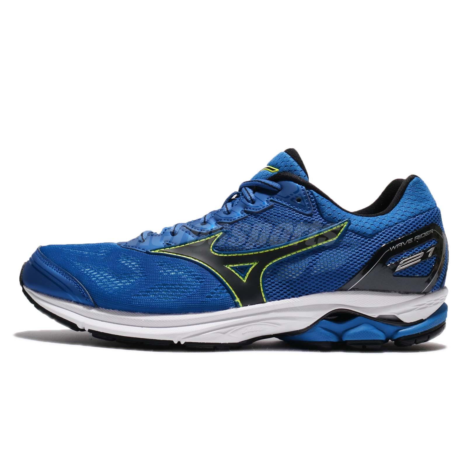 Mizuno Wave Rider 21 Blue Black Men Running Shoes Sneakers J1GC180310