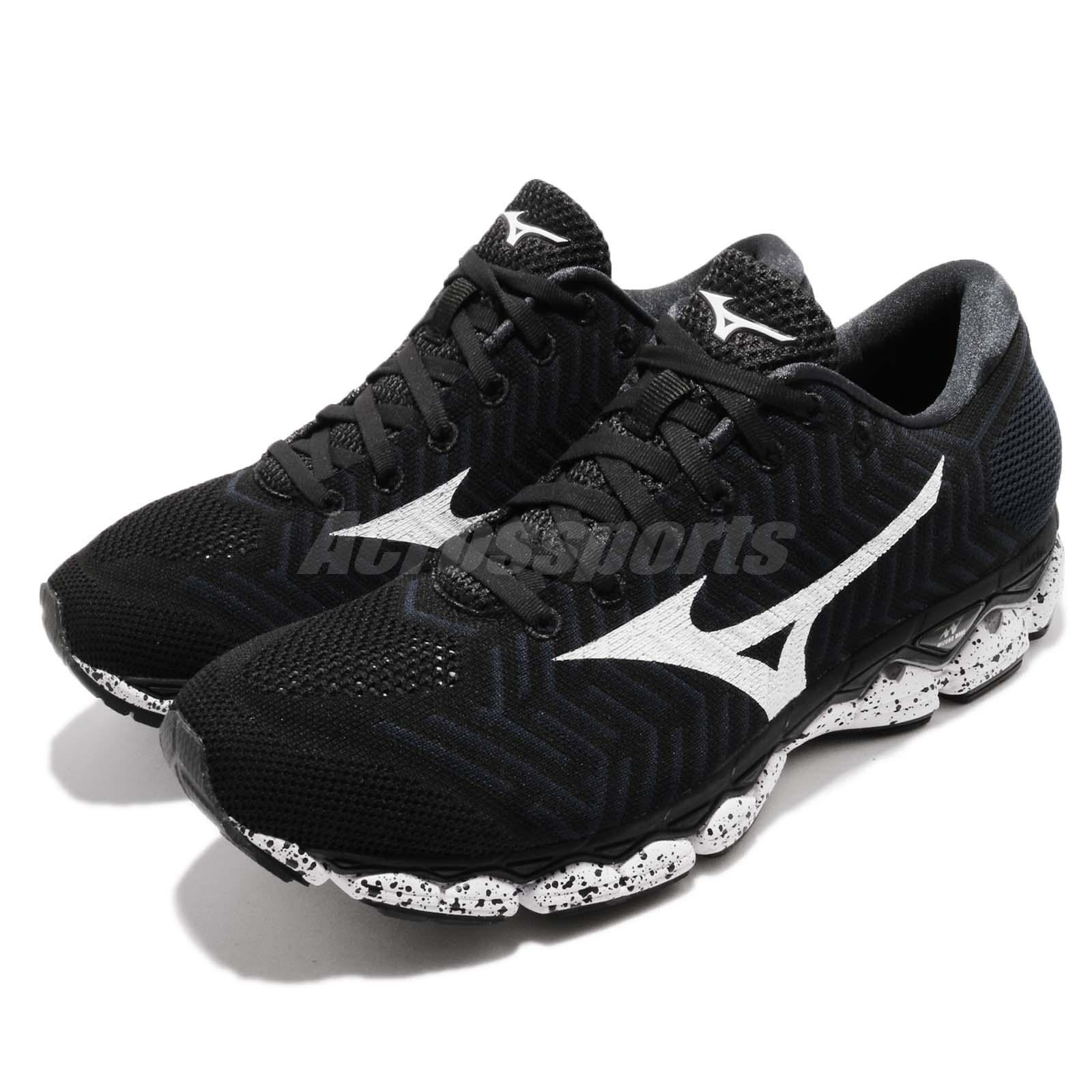 Mizuno Waveknit S1 Black White Men Running Shoes Sneakers Trainers J1GC1825-09