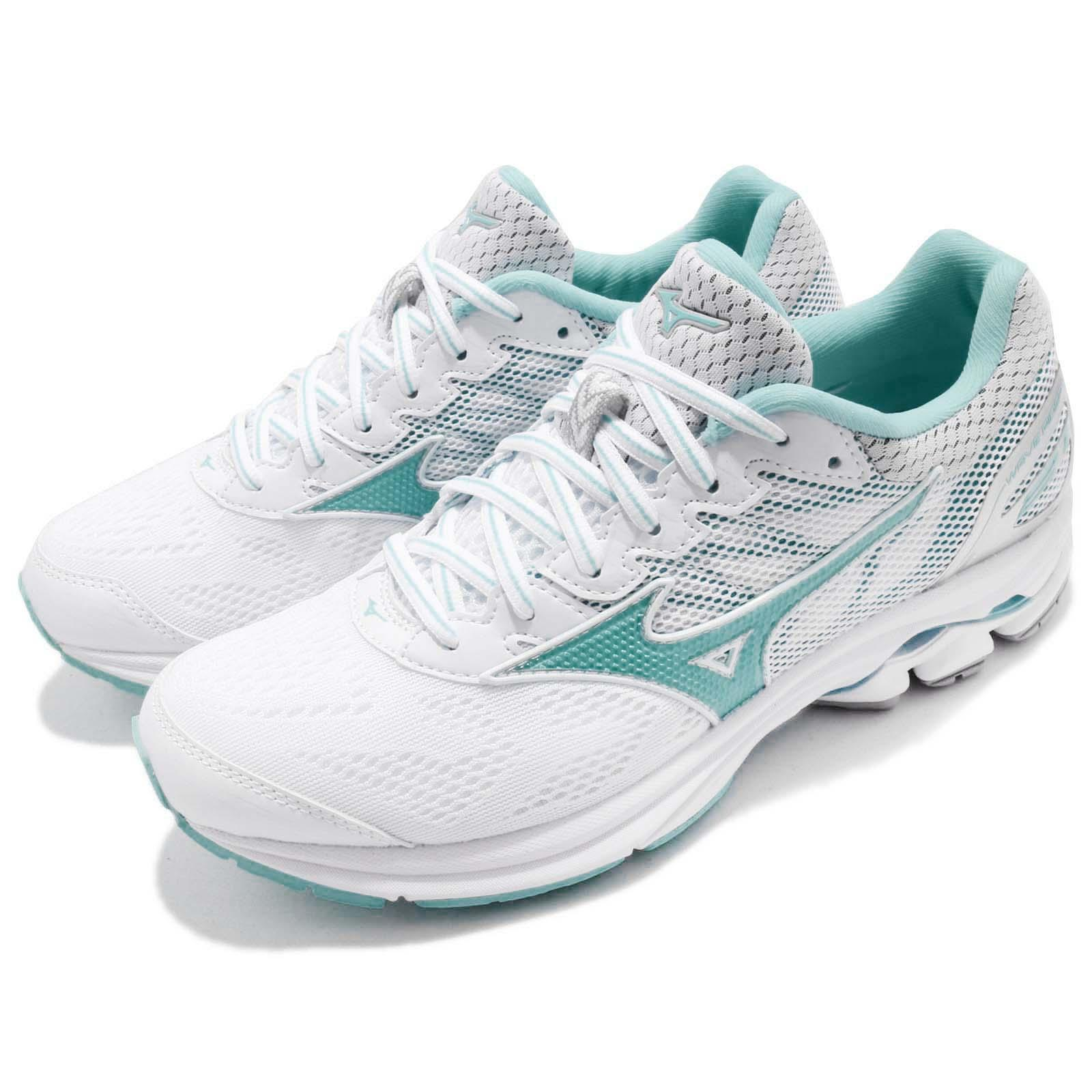 Details about Mizuno Wave Rider 21 White Green Womens Running Shoes  Trainers J1GD1803-04 5d6222cef3