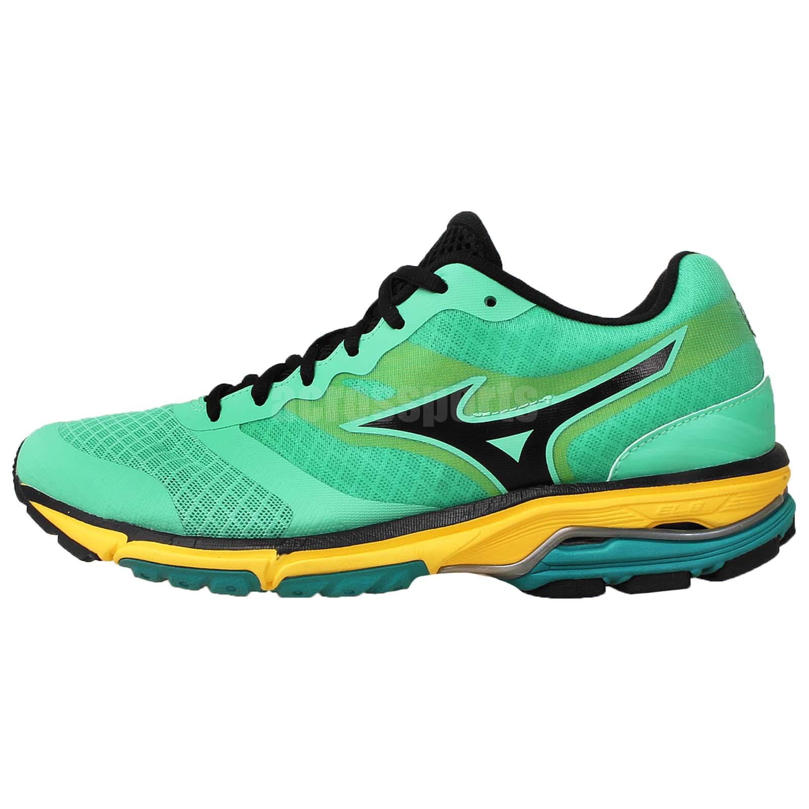 Mizuno Wave Unitus DC Green Yellow Mens Running Shoes