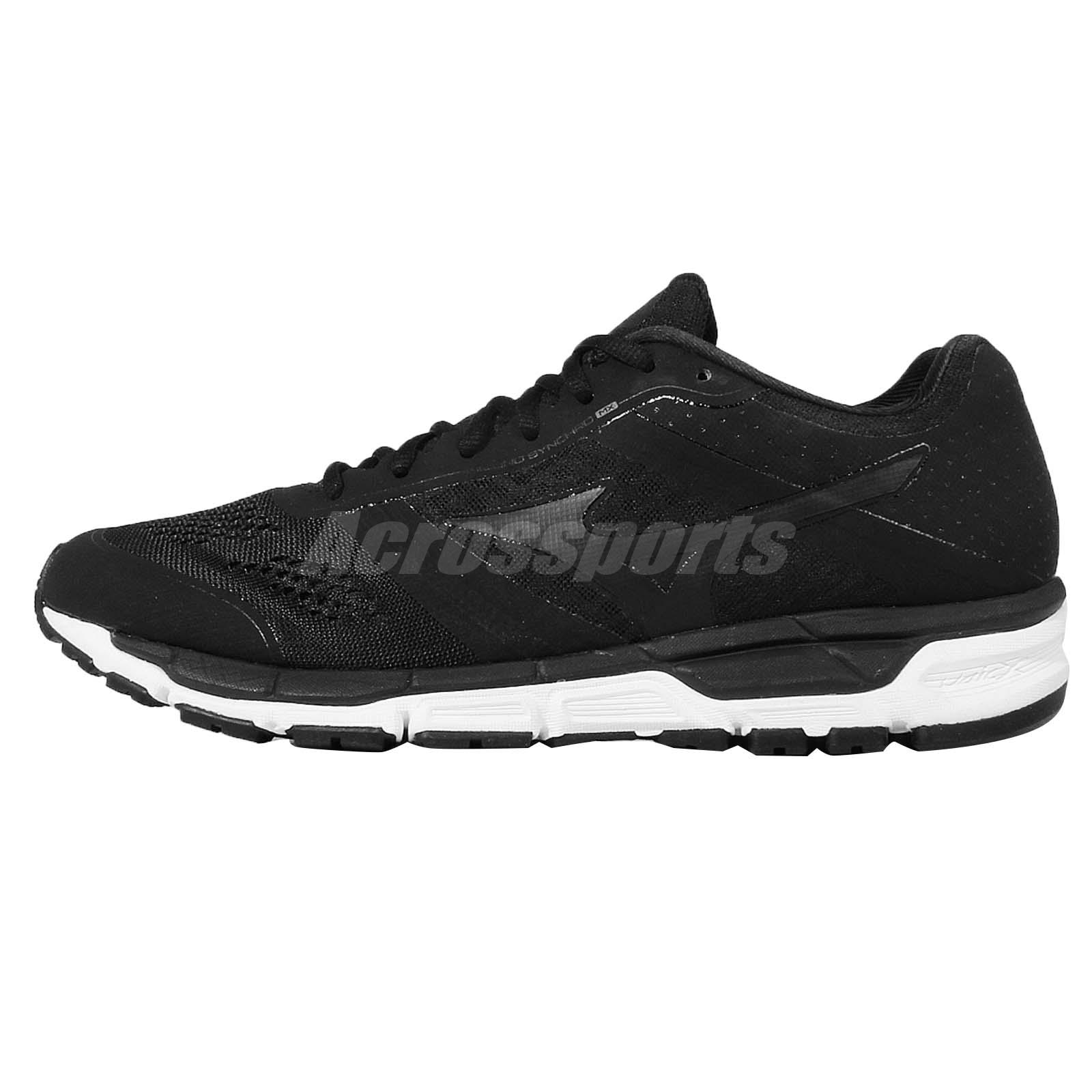 Mizuno Synchro MX Black White Mens Running Shoes Trainers J1GE16-1912