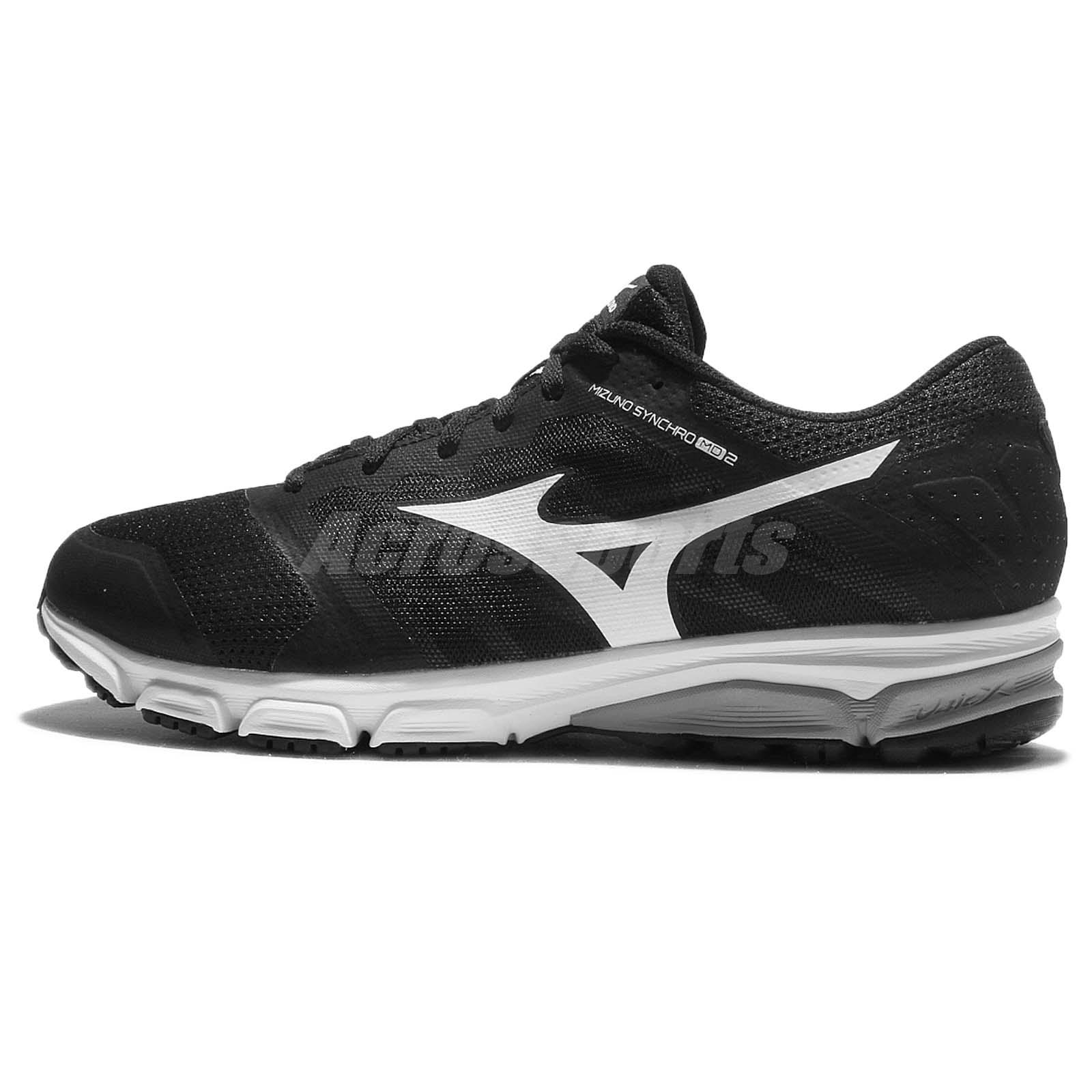 Mizuno Synchro MD 2 Black White Men Running Shoes Sneakers Trainers  J1GE17-1802 5ce34d552513