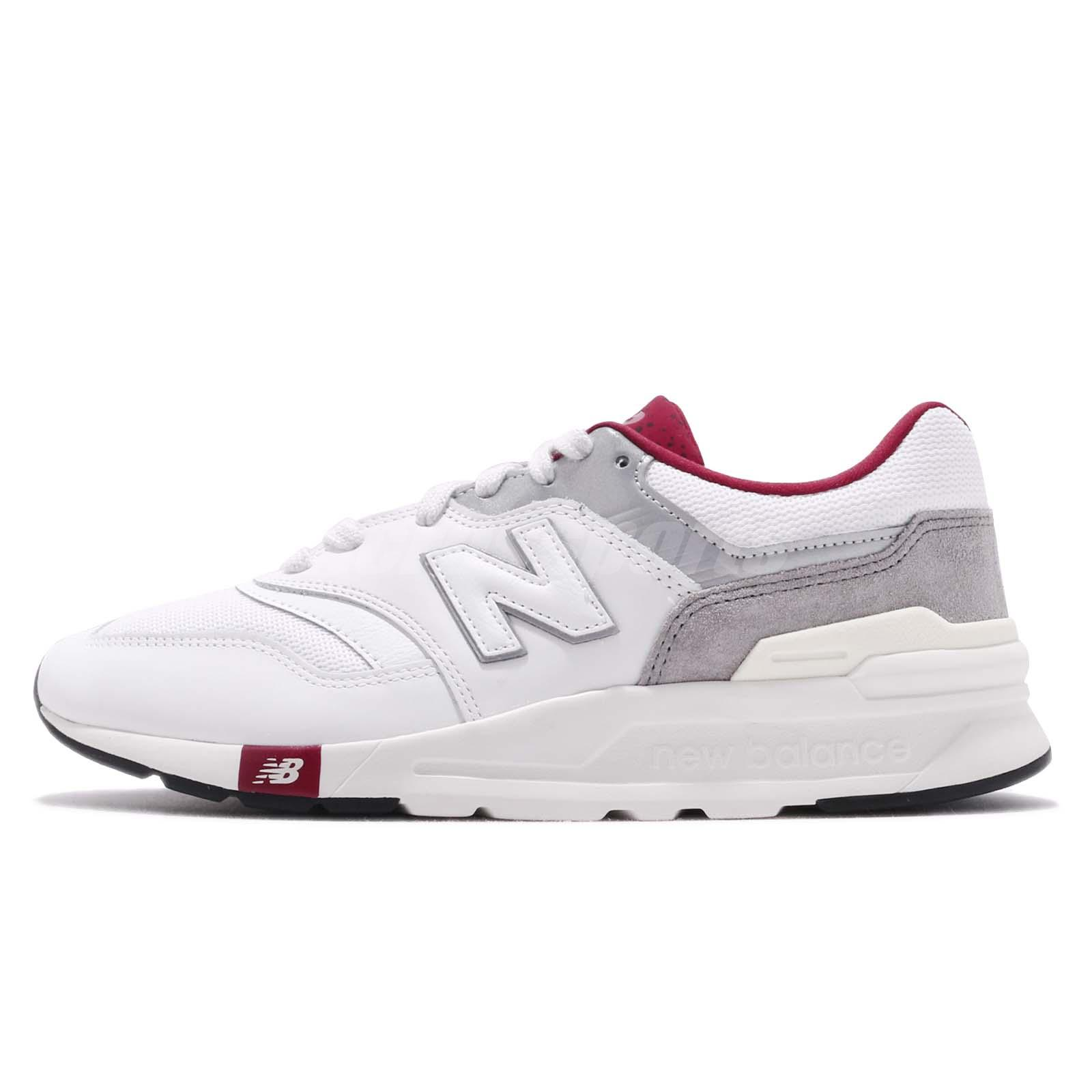 b6c31ca46e6da Details about New Balance 997 White Grey Red Mens Classic Retro Running  Shoes CM997HGA D