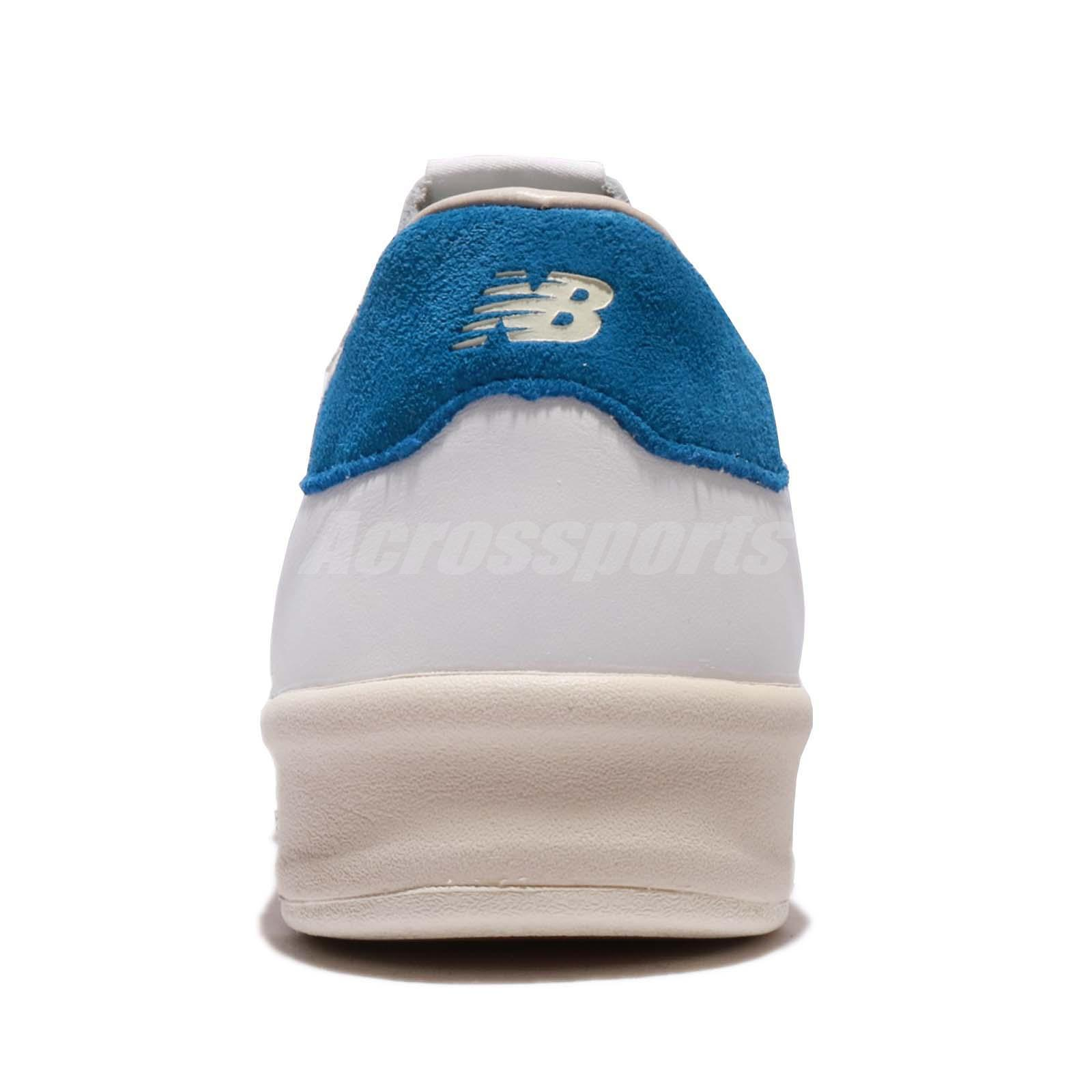 reputable site 195e5 d3782 Details about New Balance CRT300WL D White Ivory Blue Leather Men Shoes  Sneakers CRT300 WLD