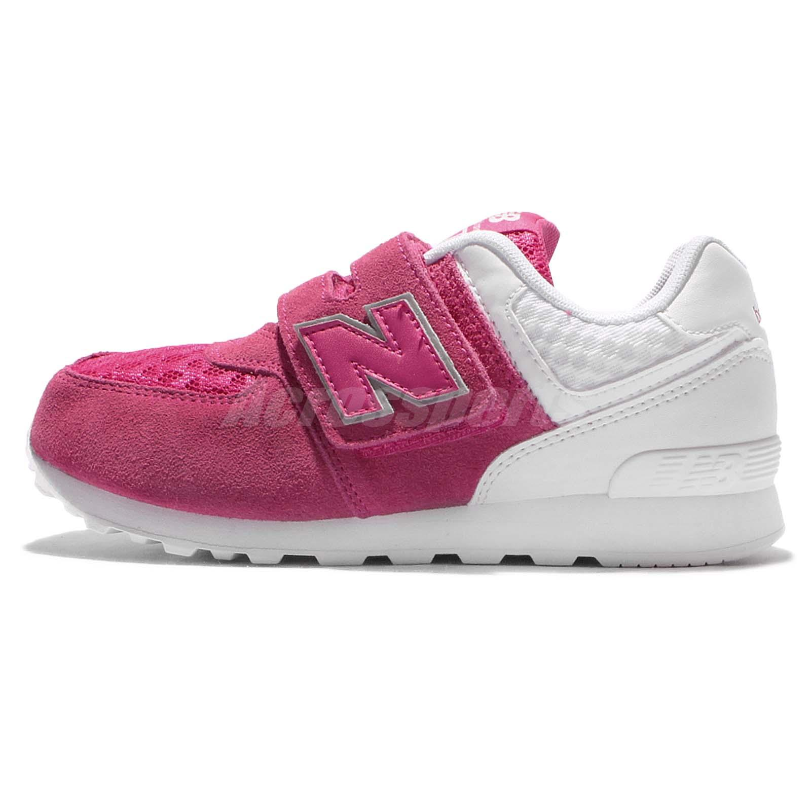 new balance kids 574. new balance kv574qpy w wide pink white kid youth running shoes kv574qpyw kids 574