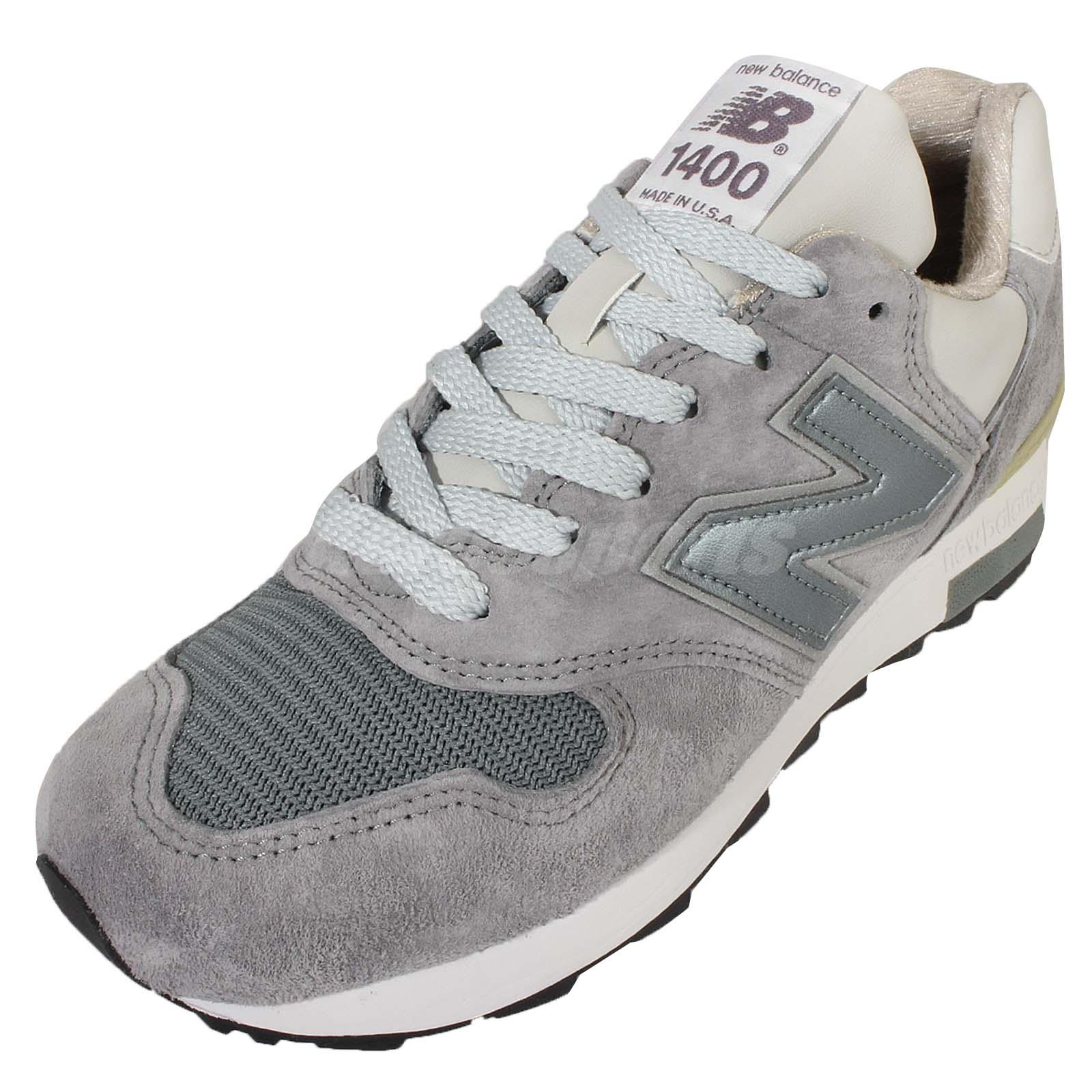 New Balance M1400NV D Navy Silver Mens Retro Running Shoes Made In USA M1400NVD