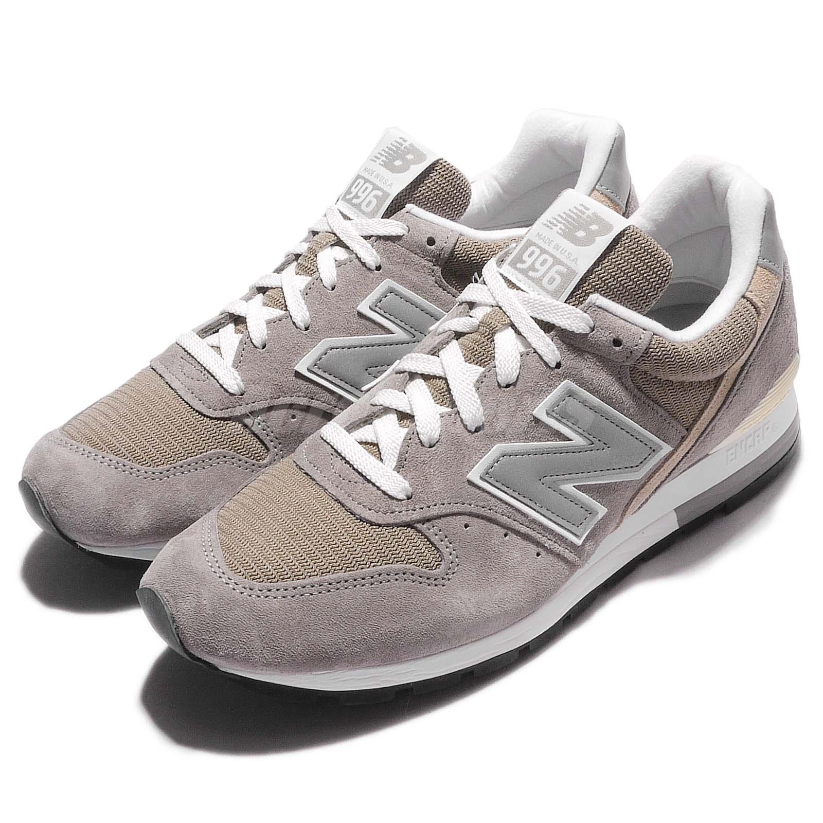 New Balance M996 D Grey White Suede Made In USA Mens Vintage Retro Shoes M996D