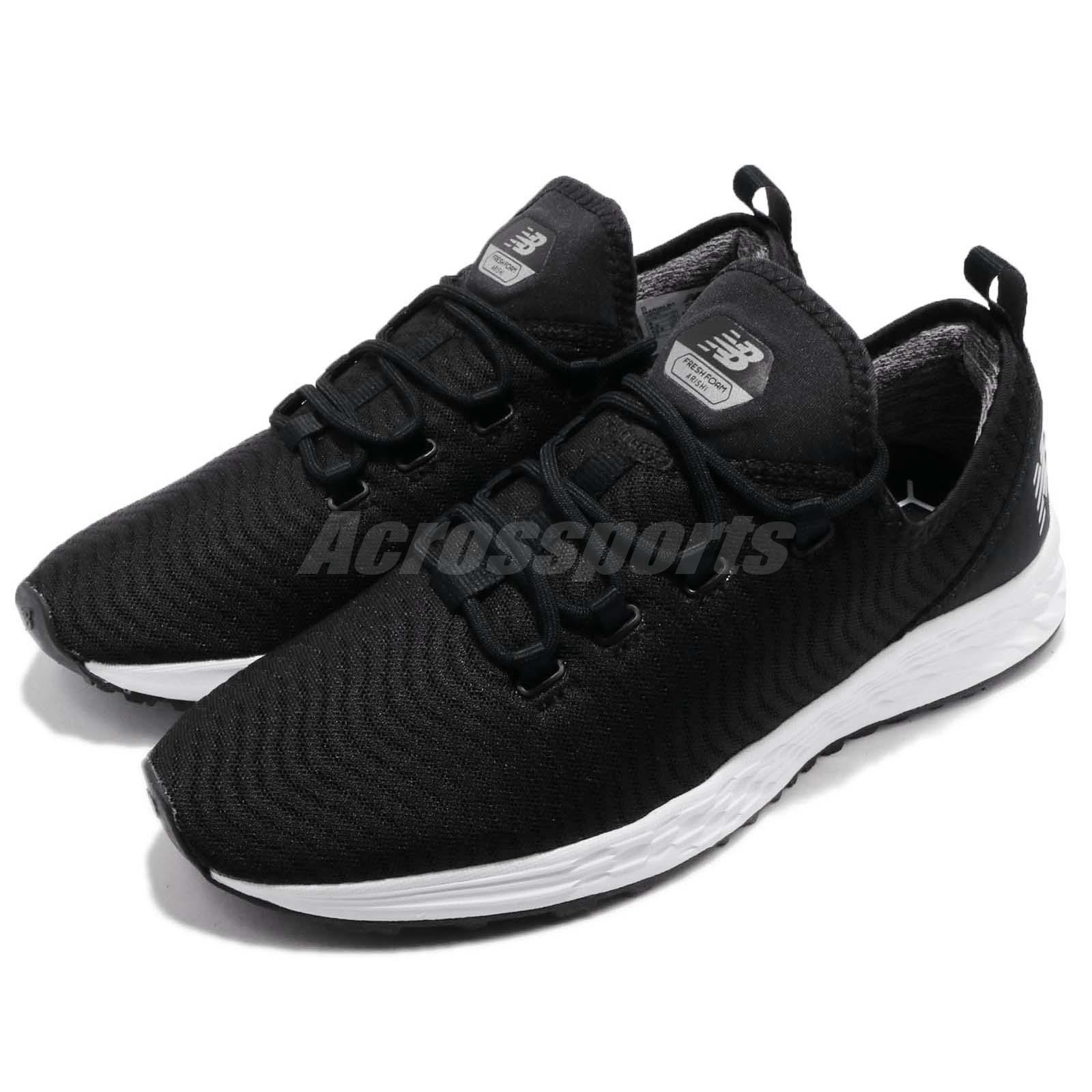 eae4414a8bf Details about New Balance MARIALB1 D Fresh Foam Arishi Black White Men Running  Shoes MARIALB1D