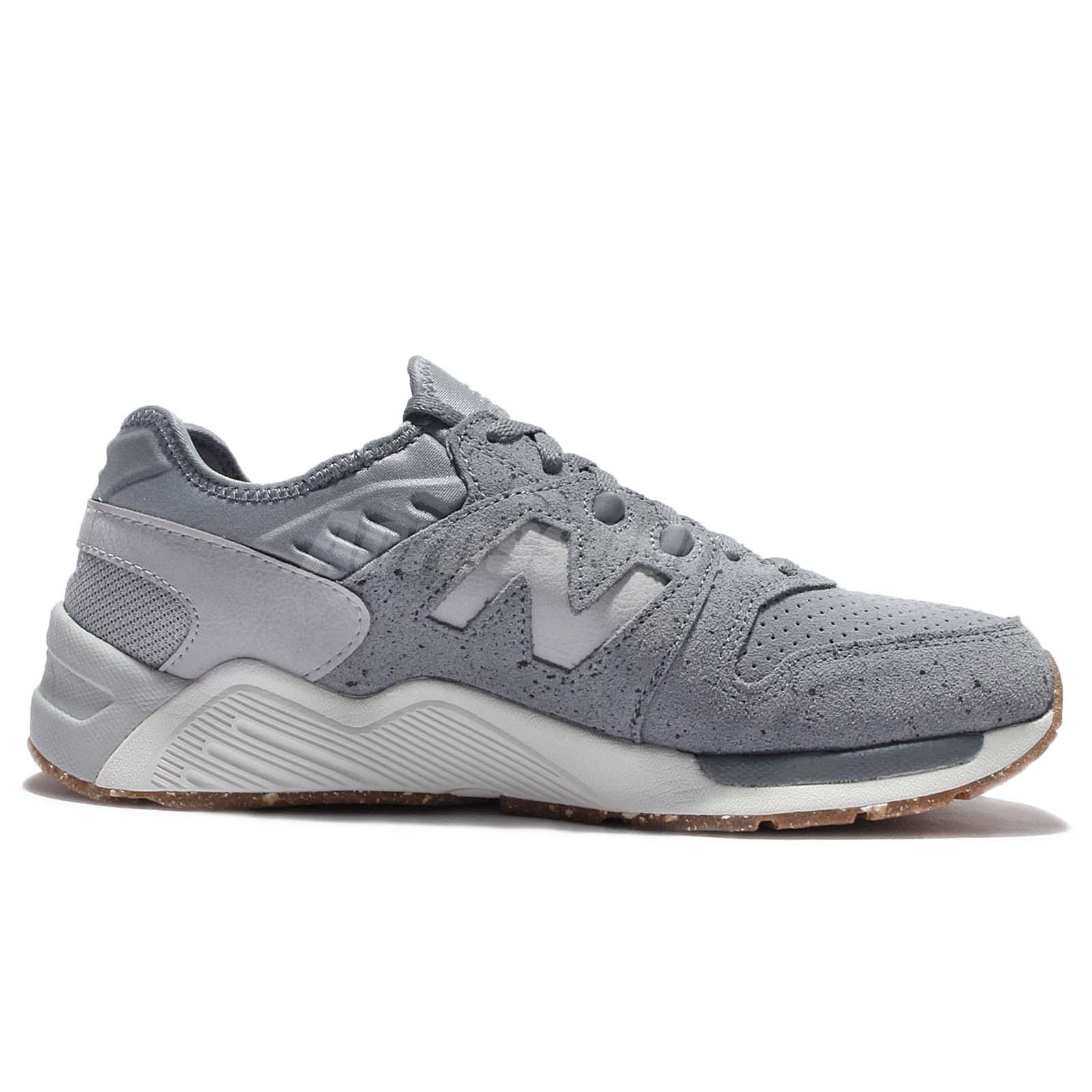 f04e7723e44 New Balance ML009PB D Speckle Suede Grey Silver White Men Running ...