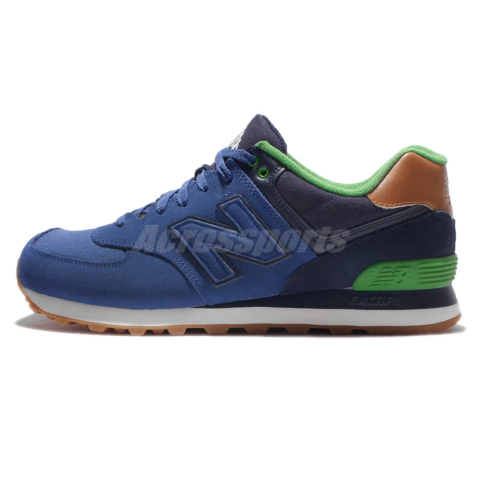 New Balance ML574NEAD Collegiate Navy Green Gum Mens Retro Running ML574NEAD