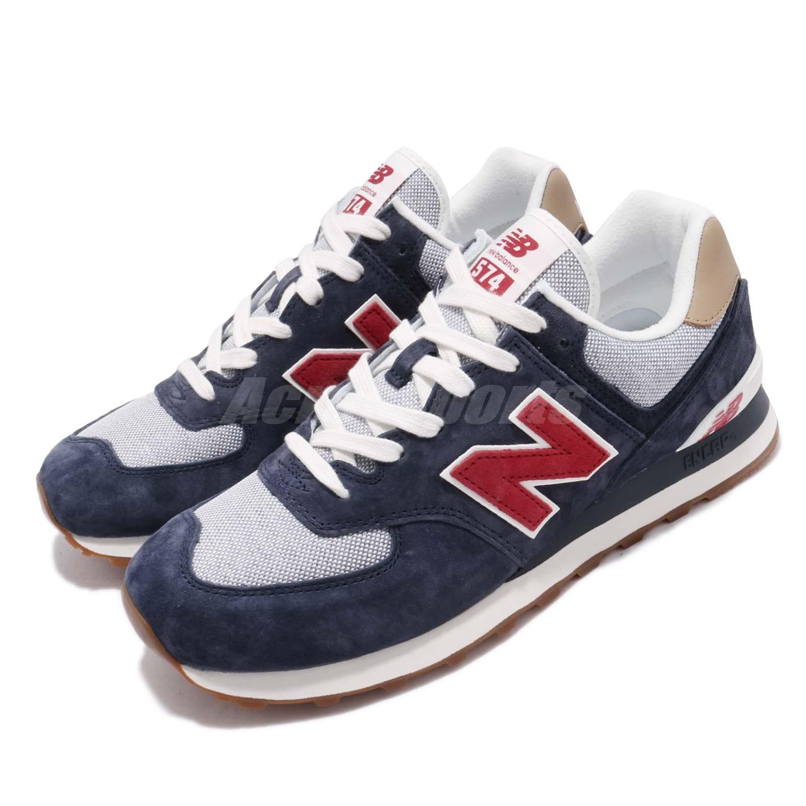 newest b52dd 1cb49 Details about New Balance ML574PTR D Navy Red White Gum Men Running Shoes  Sneakers ML574PTRD