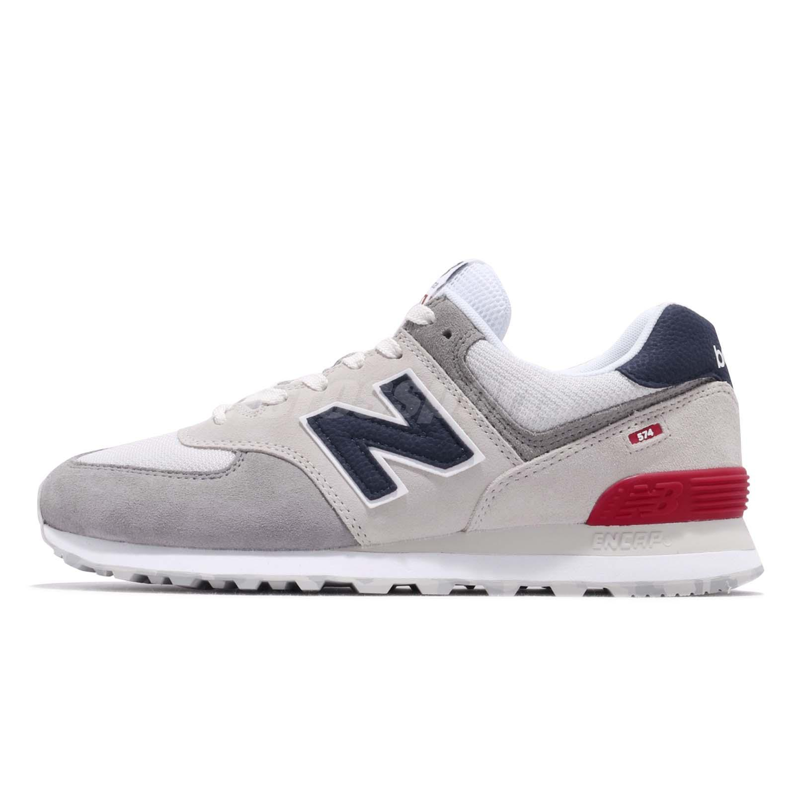 new style 1b996 867e3 Details about New Balance ML574UJD D Grey Blue Red White Men Running Shoes  Sneakers ML574UJDD