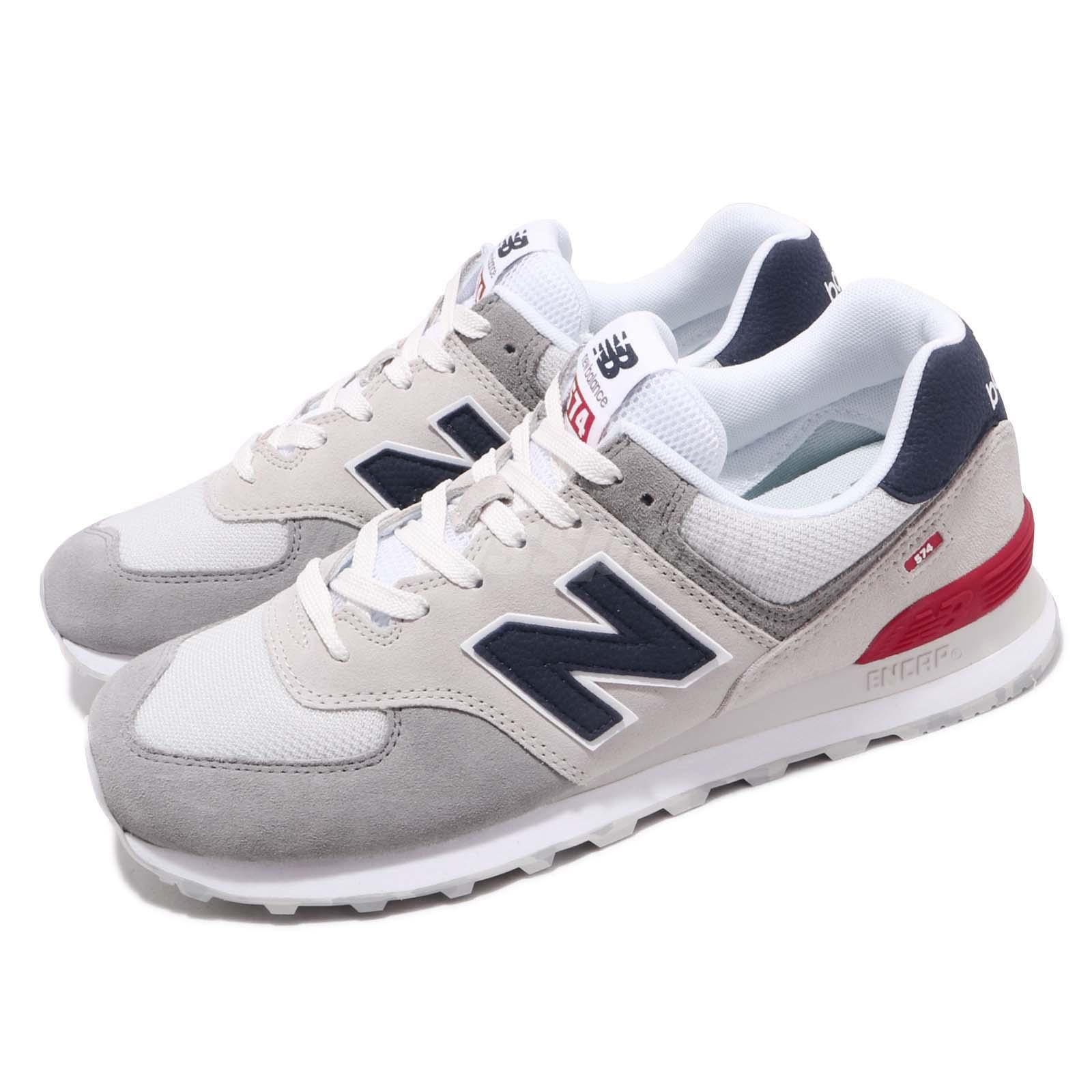 new style 773a6 44e8e Details about New Balance ML574UJD D Grey Blue Red White Men Running Shoes  Sneakers ML574UJDD