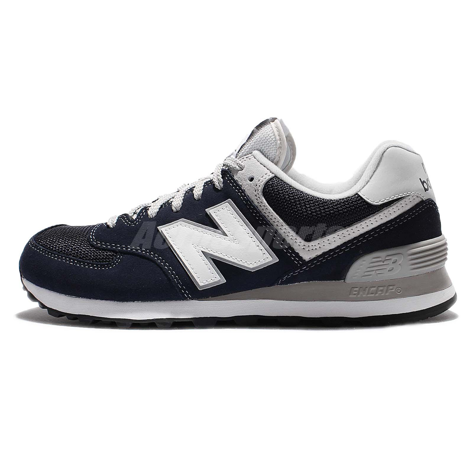 New Balance ML574VIC D Navy Grey White Suede Mens Running Shoes ML574VICD