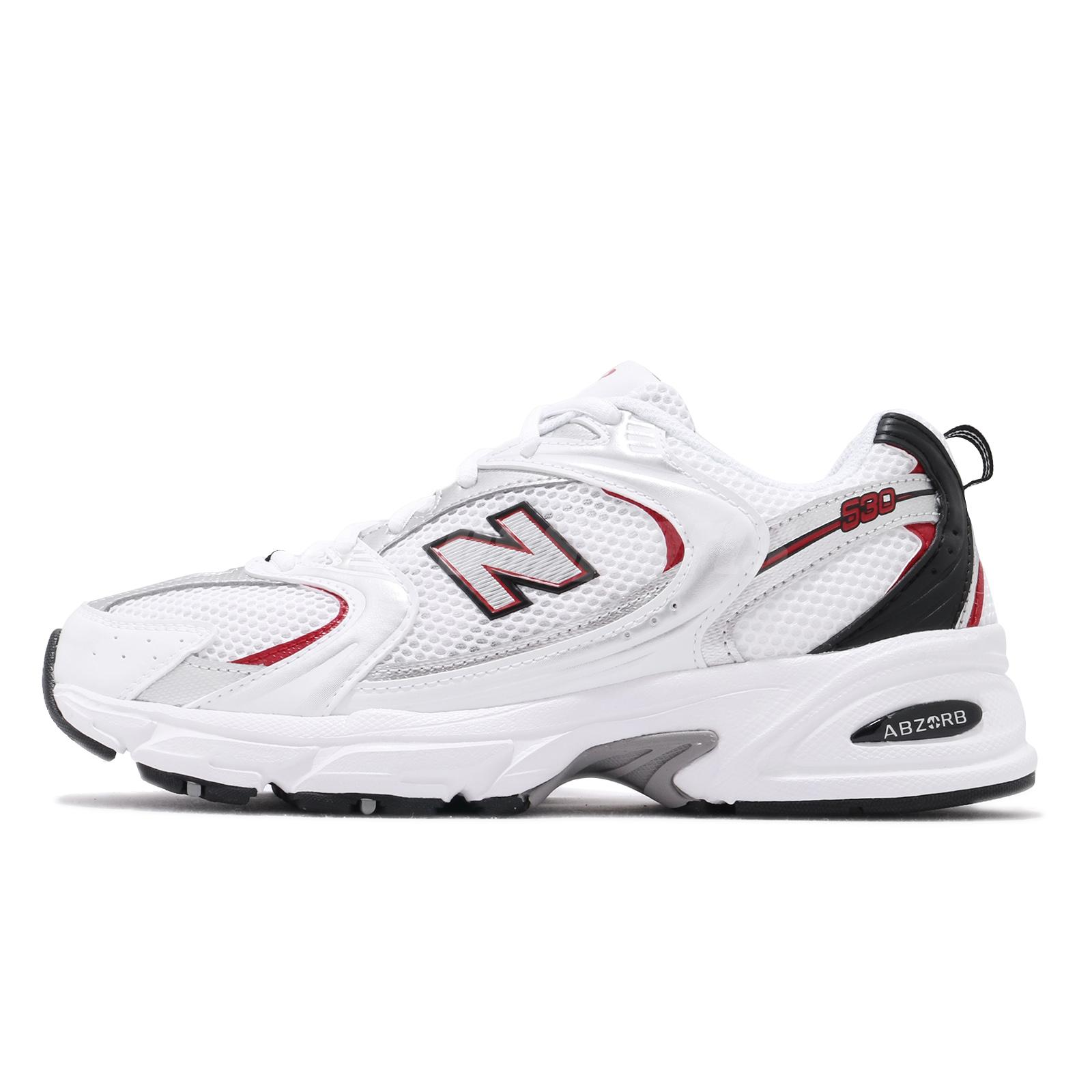 Details about New Balance 530 V2 Retro White Silver Red Men Women Running  Shoes MR530SA D