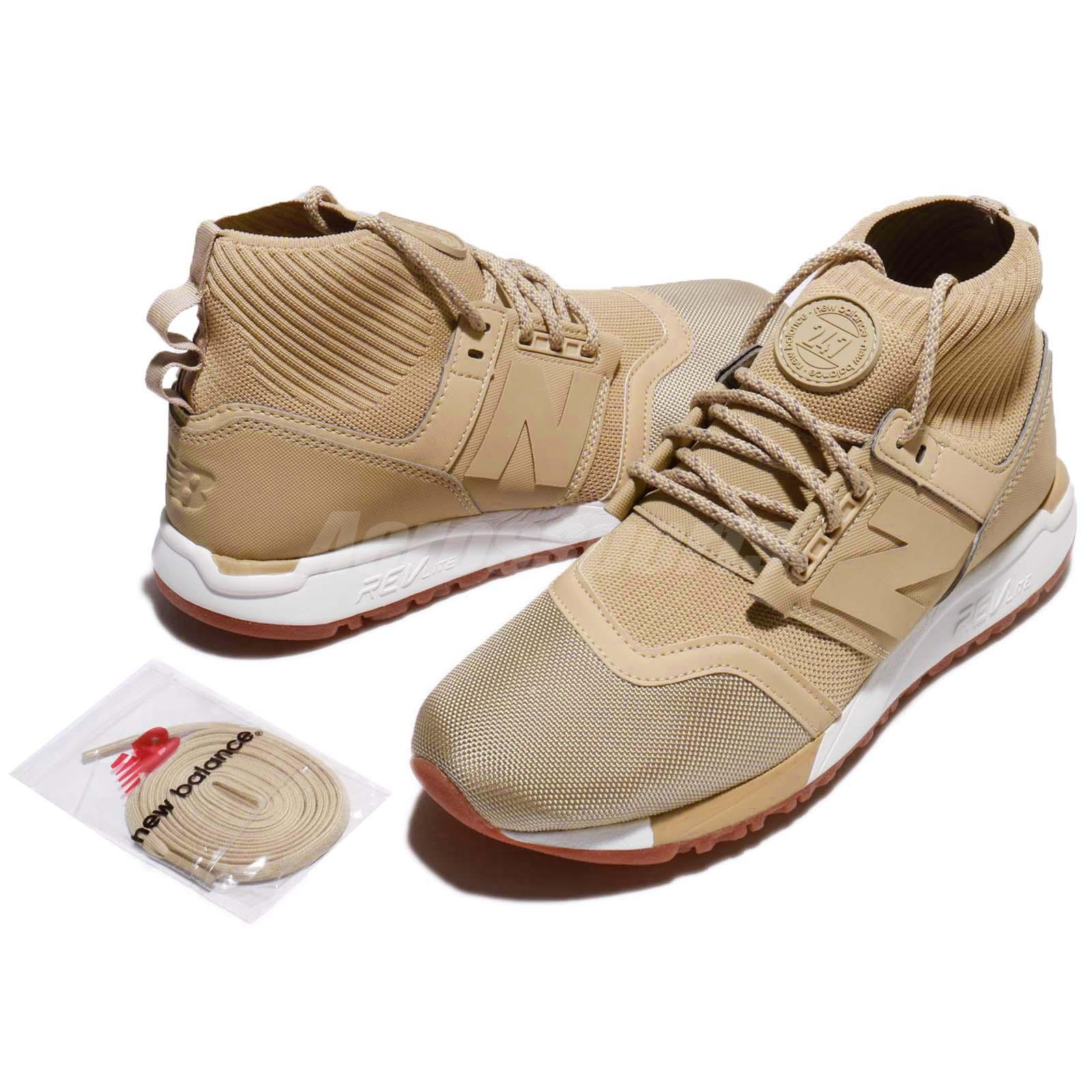 New Balance Men/'s 247 MID SPORTS STYLE Shoes Beige//white MRL247OY b