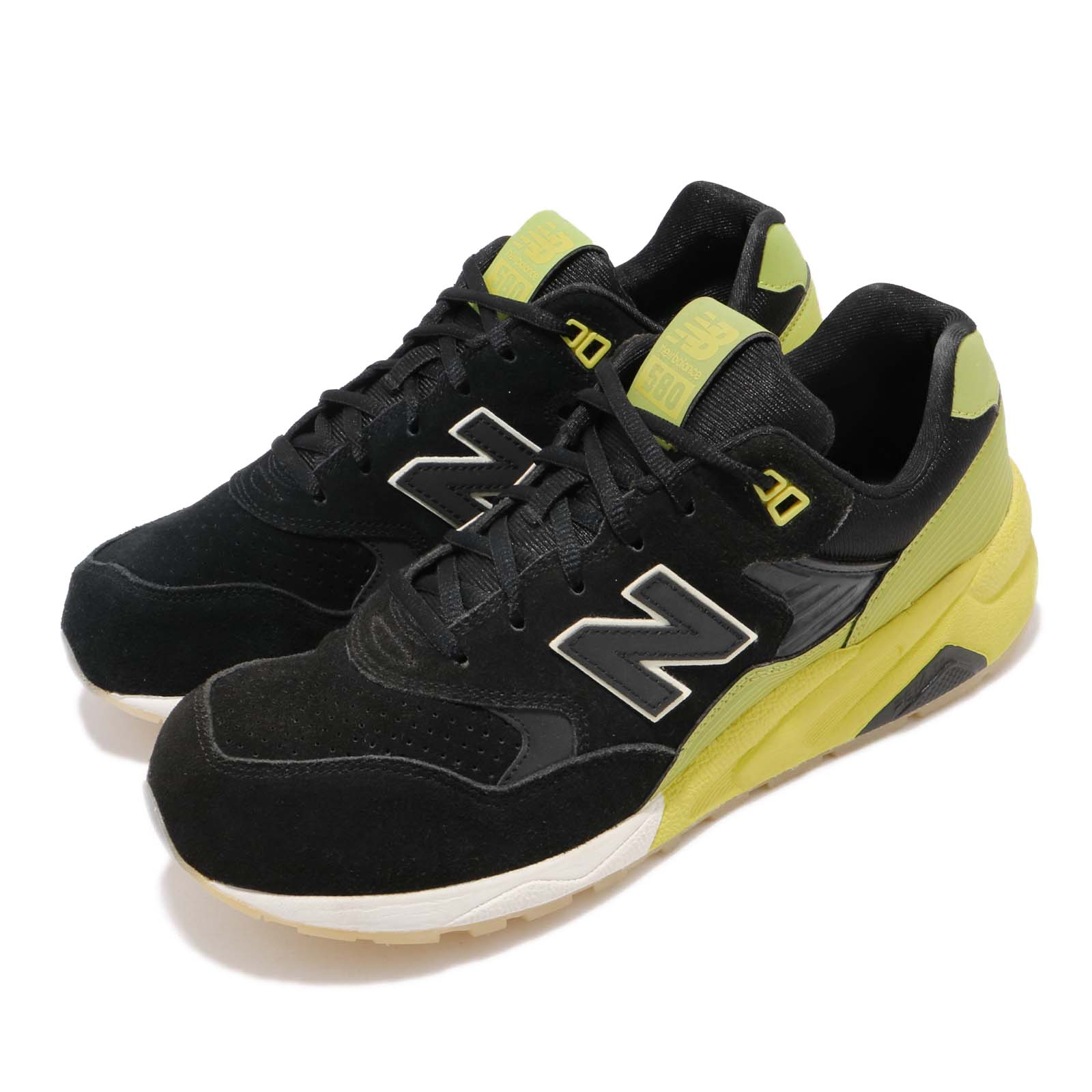 New Balance MRT580UG D Black Yellow Suede Mens Running Shoes Sneakers MRT580UGD